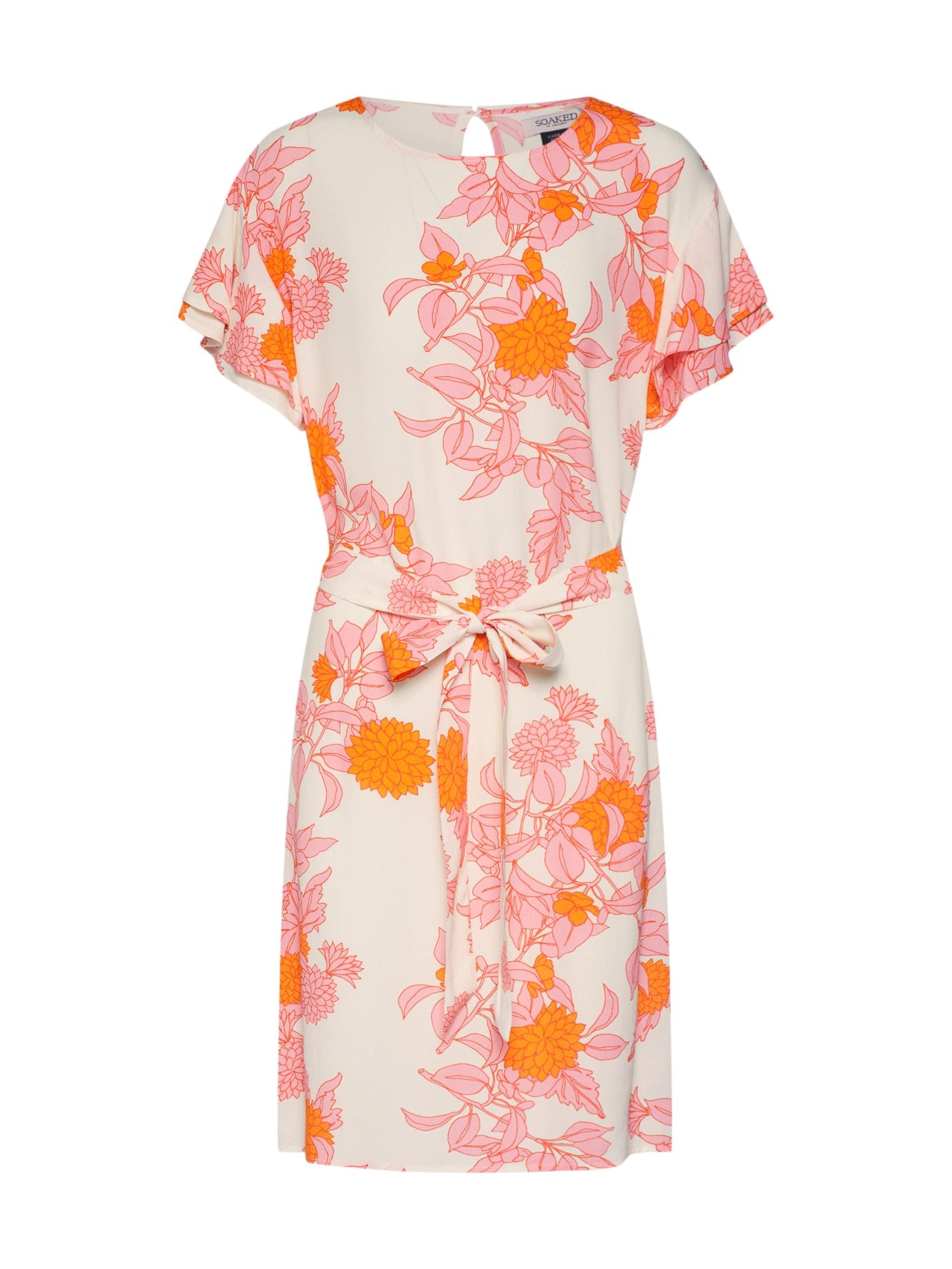 Letní šaty oranžová pink bílá SOAKED IN LUXURY