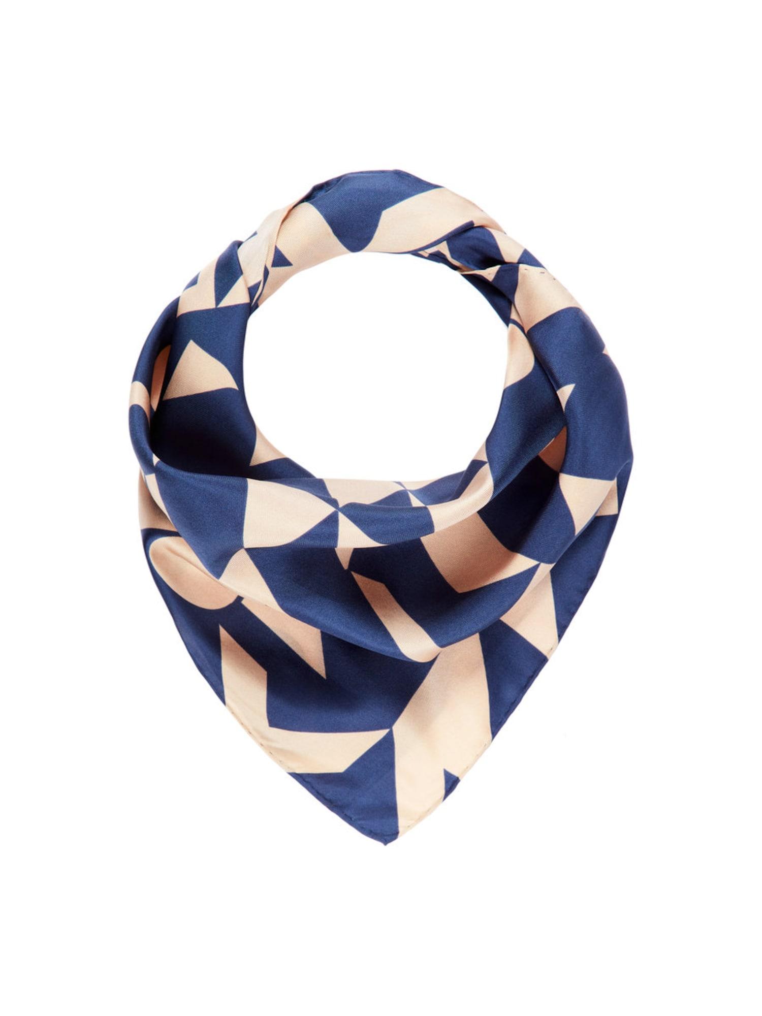Schals für Frauen - POSTYR Schal beige dunkelblau  - Onlineshop ABOUT YOU