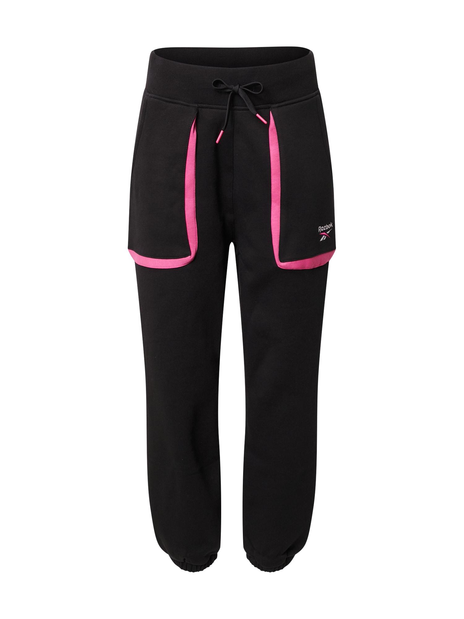Reebok Classic Kelnės juoda / balta / rožinė