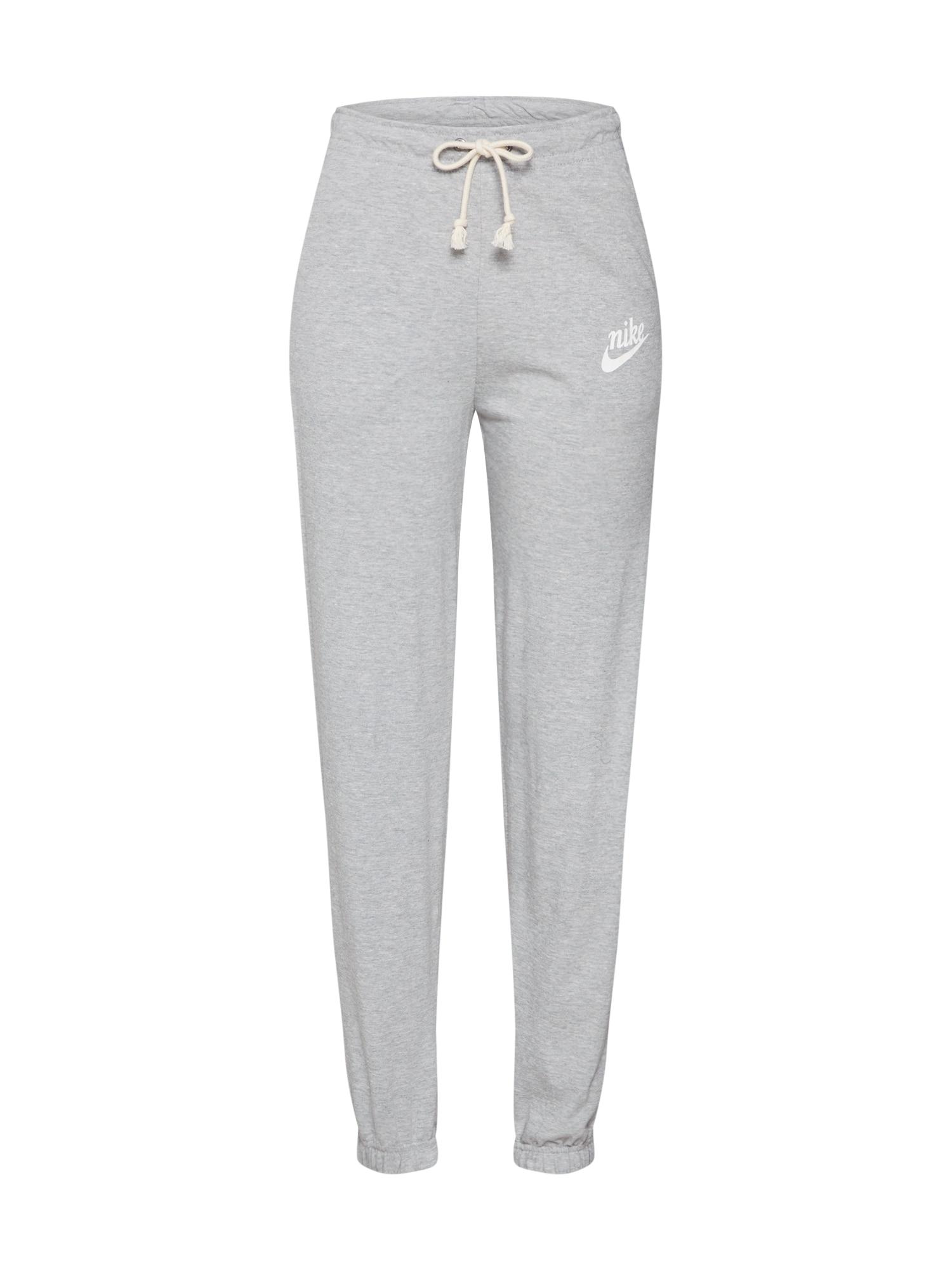 Nike Sportswear Kelnės 'W NSW GYM VNTG PANT' pilka