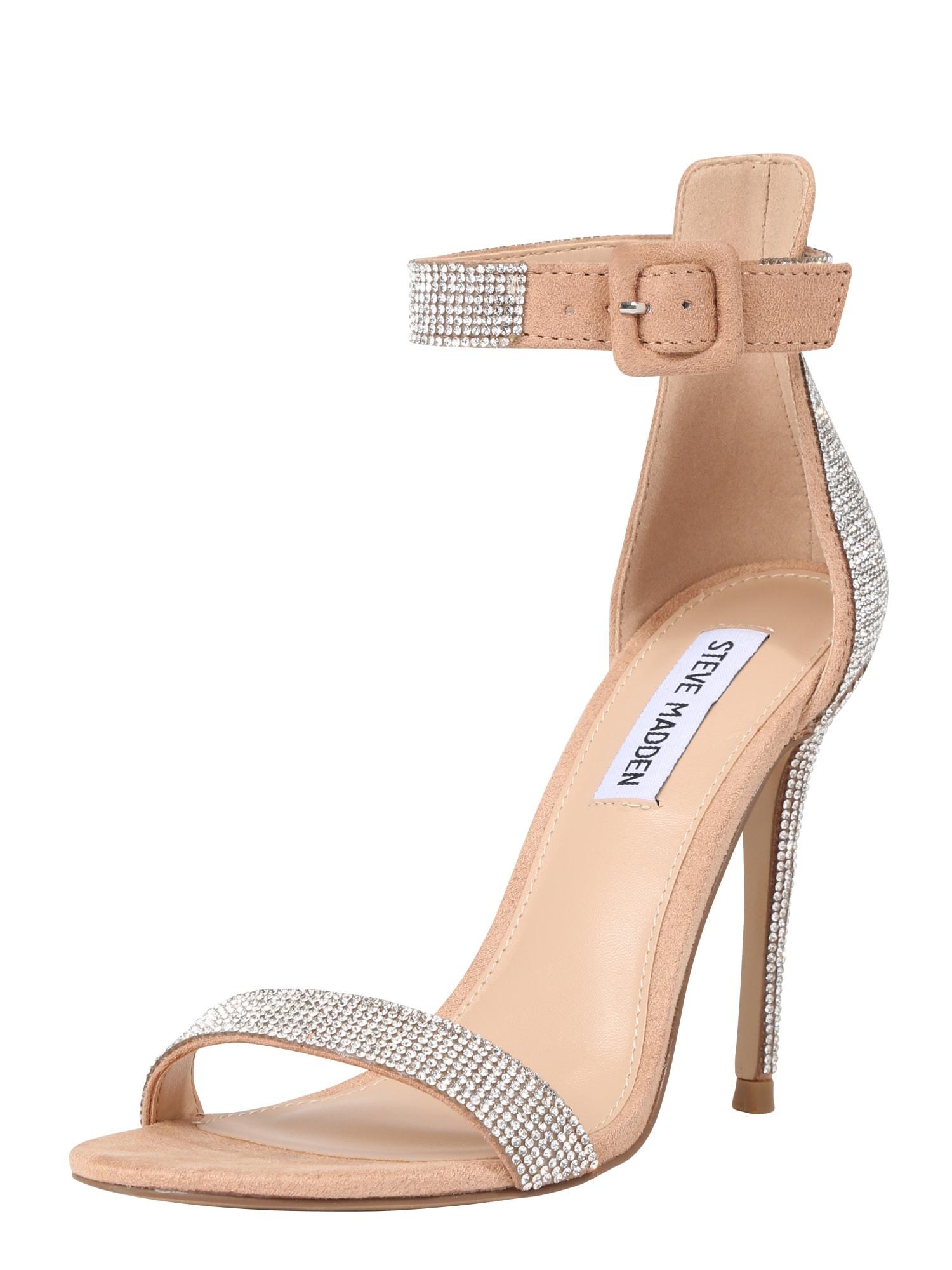 Páskové sandály MISCHA pudrová stříbrná STEVE MADDEN