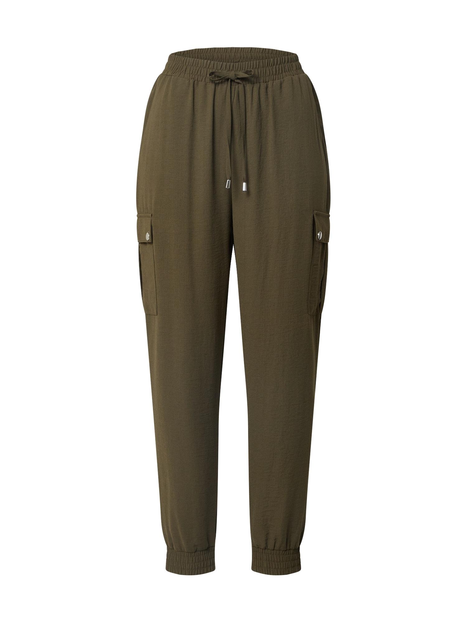 Dorothy Perkins Laisvo stiliaus kelnės 'Cargo Jogger' rusvai žalia