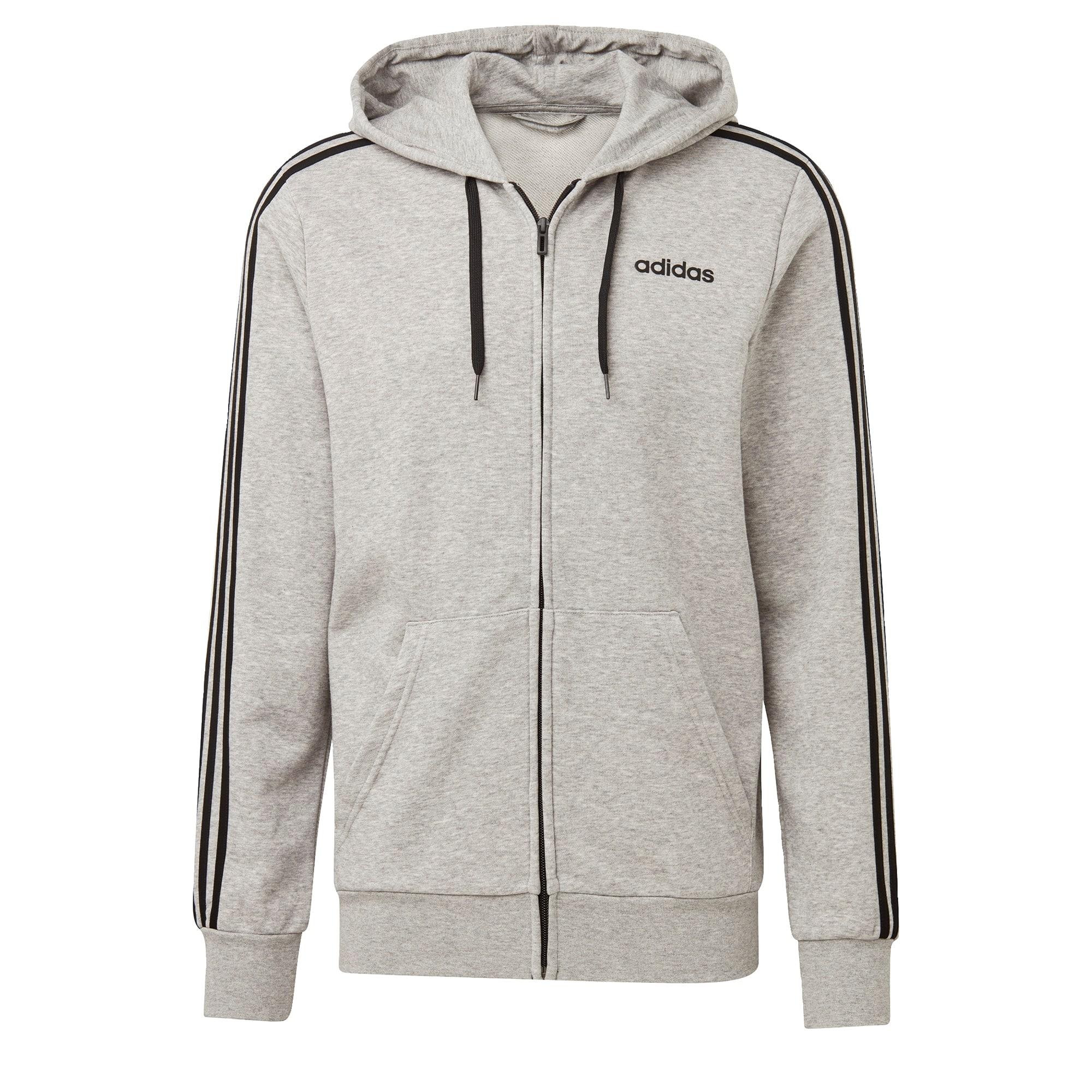 ADIDAS PERFORMANCE Sportinis džemperis margai pilka / juoda