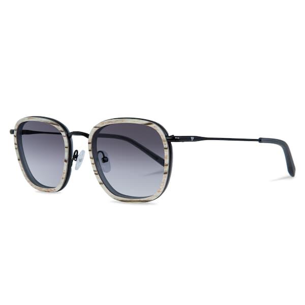 Sonnenbrillen für Frauen - Kerbholz Sonnenbrille 'August' beigemeliert grau schwarz  - Onlineshop ABOUT YOU