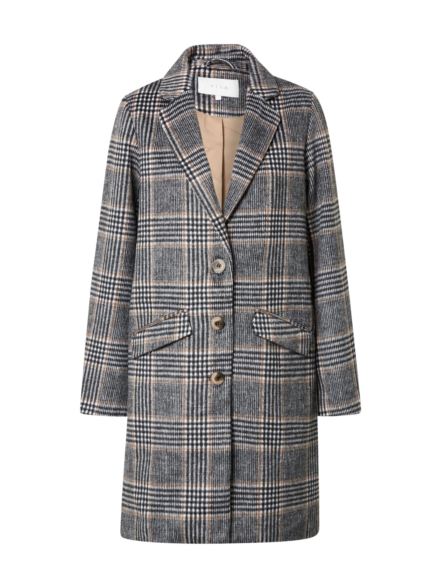 VILA Demisezoninis paltas pilka / balkšva