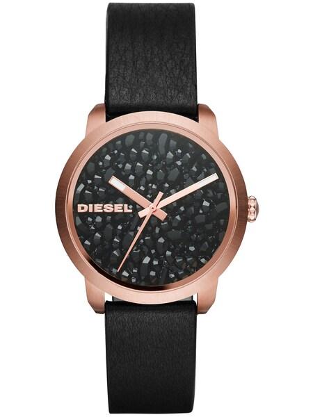 Uhren für Frauen - DIESEL Quarzuhr 'FLARE' rosegold schwarz  - Onlineshop ABOUT YOU