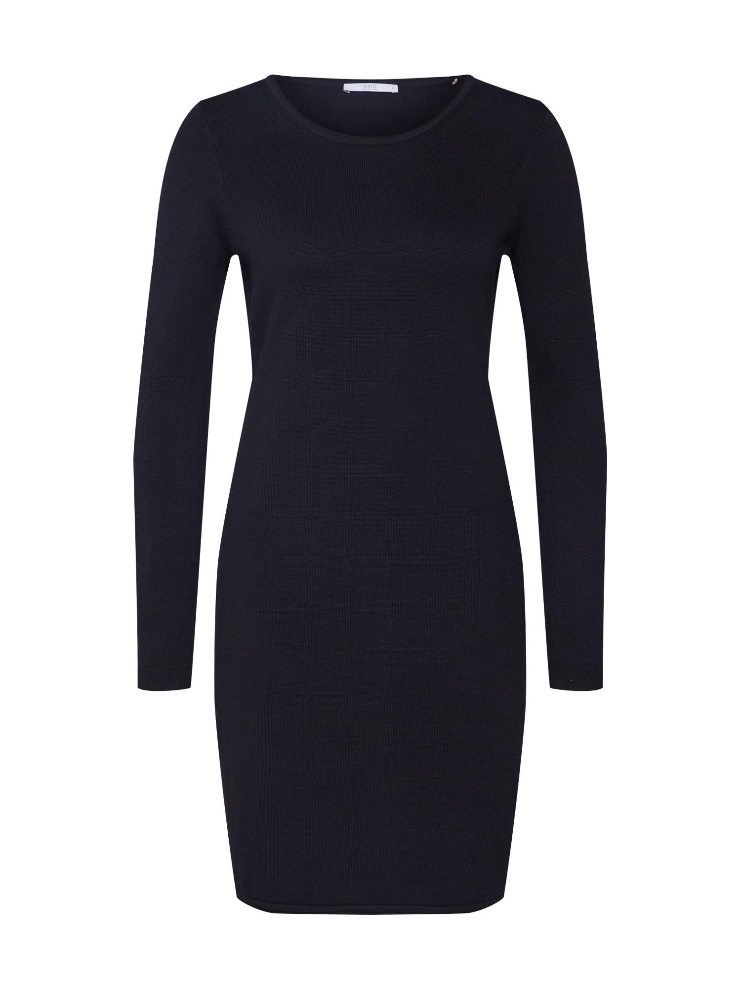 EDC BY ESPRIT Megzta suknelė juoda