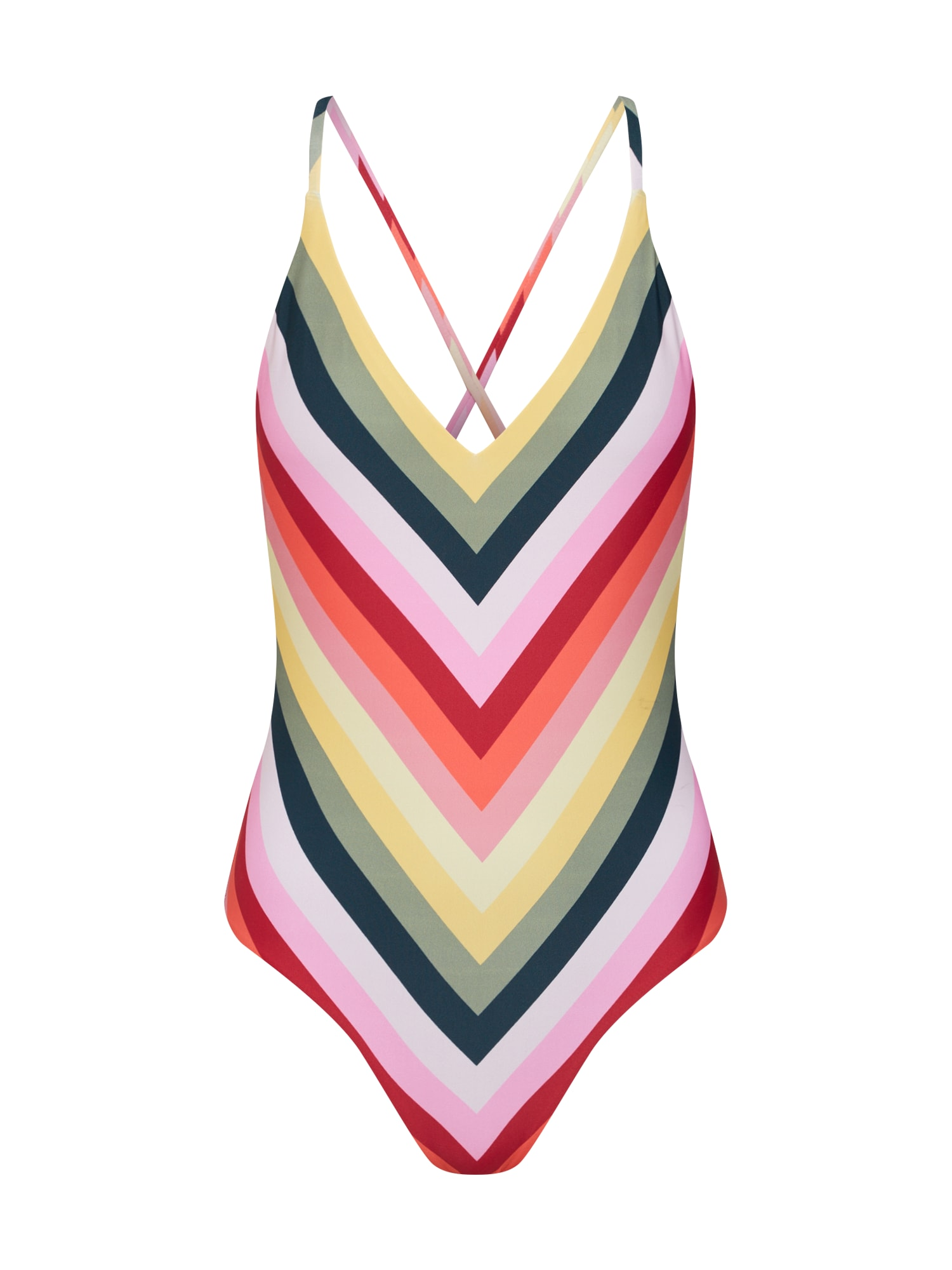Plavky S HAPPY STRIPES ONE PIECE  mix barev CATWALK JUNKIE