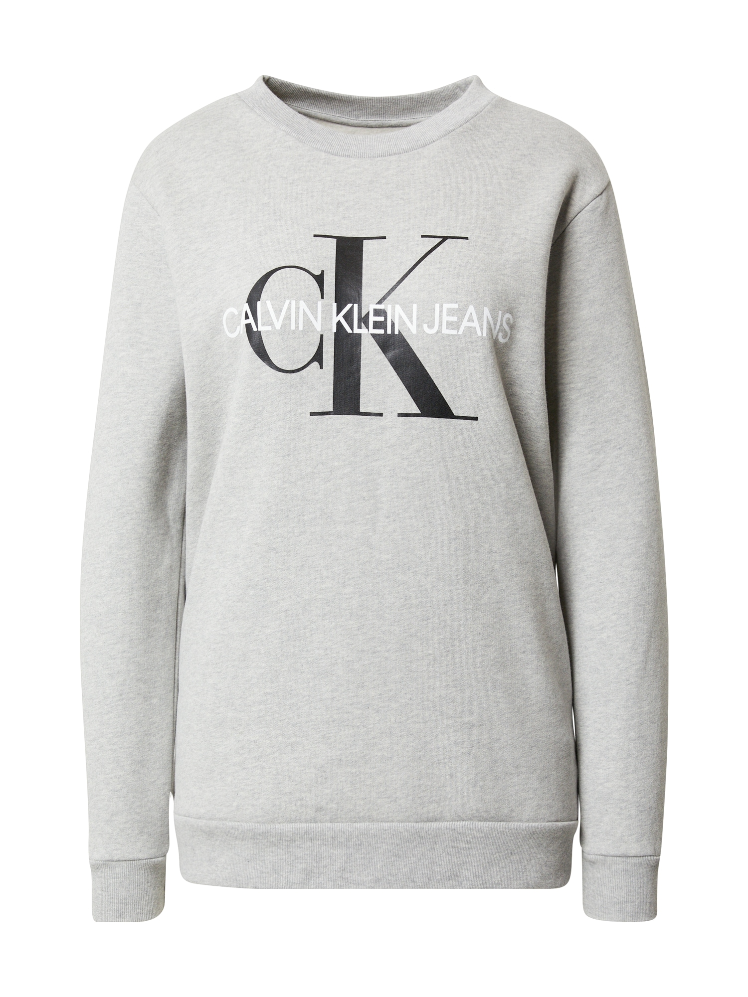 Calvin Klein Jeans Megztinis be užsegimo margai pilka / balta / juoda