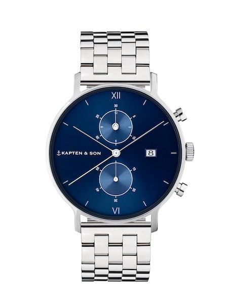 Uhren für Frauen - Kapten Son Armbanduhr 'Chrono Silver Steel' blau silber  - Onlineshop ABOUT YOU