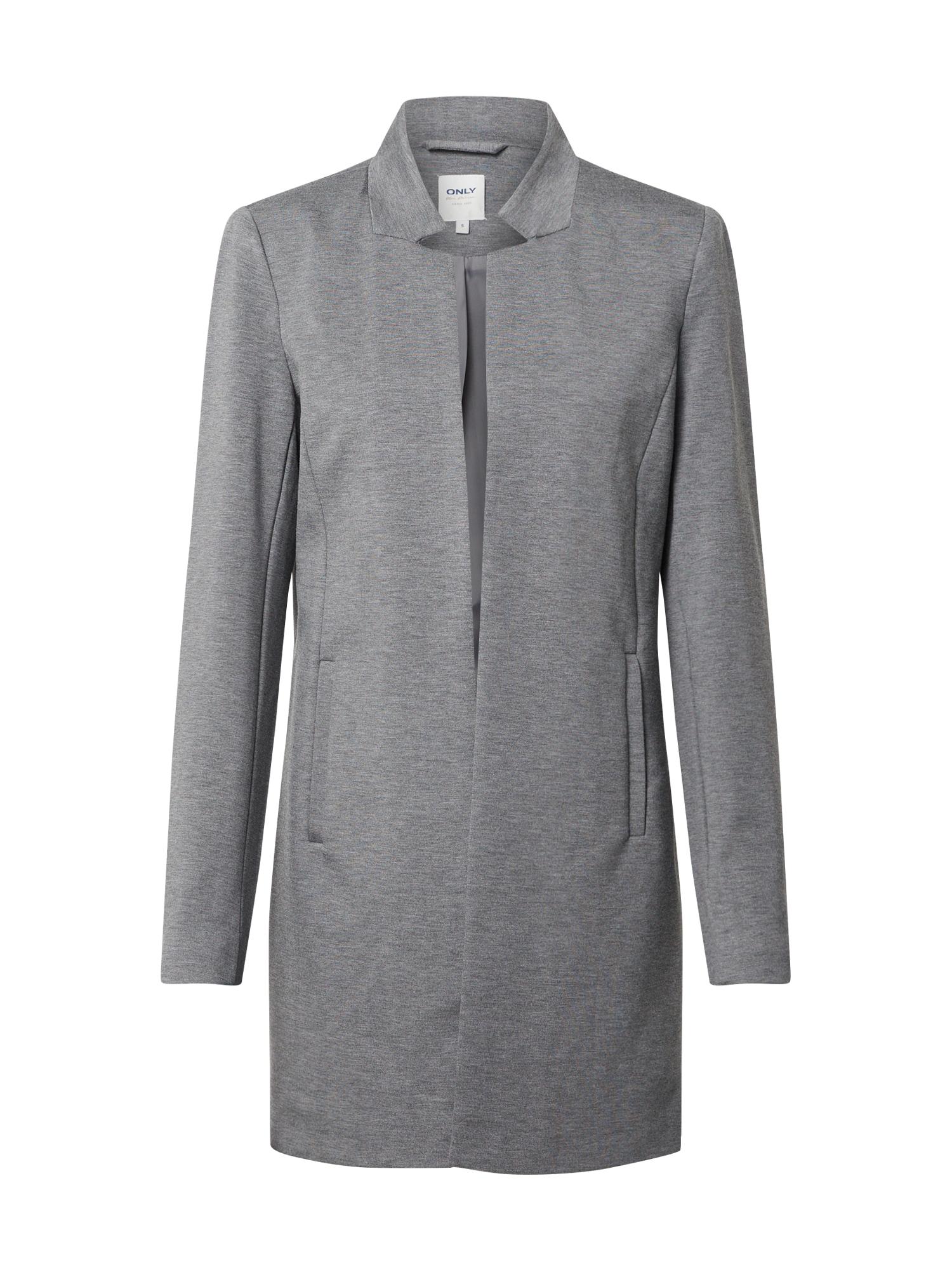 ONLY Prechodný kabát 'ONLPOPTRASH SOHO COATIGAN PNT'  sivá melírovaná