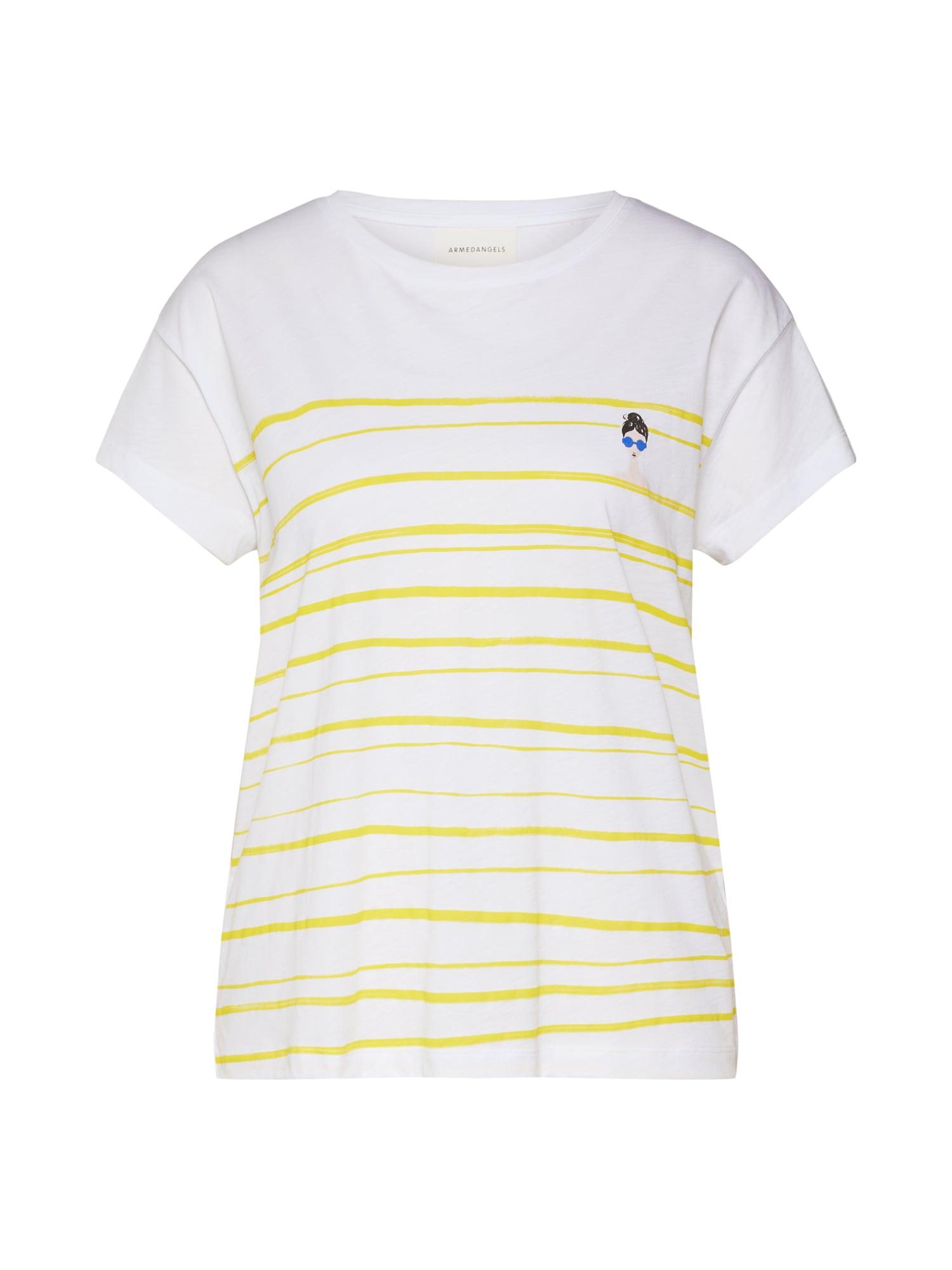 Tričko NELAA WOMAN AT THE SEA žlutá bílá ARMEDANGELS