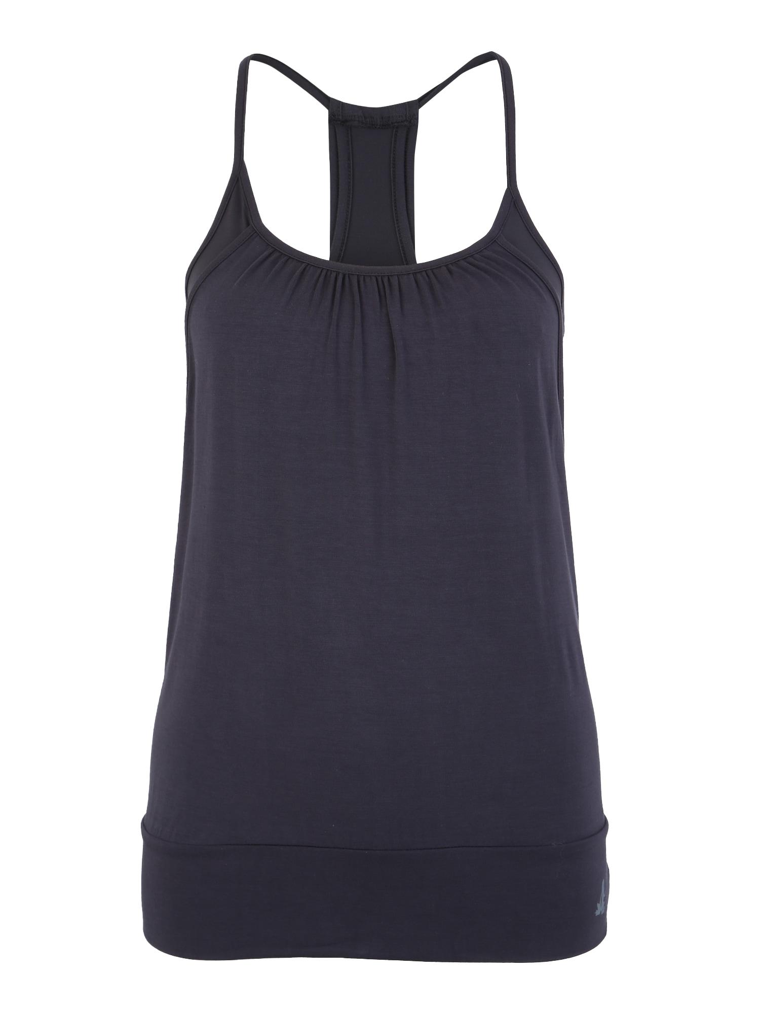 Sportovní top open top Materialmix tmavě modrá CURARE Yogawear