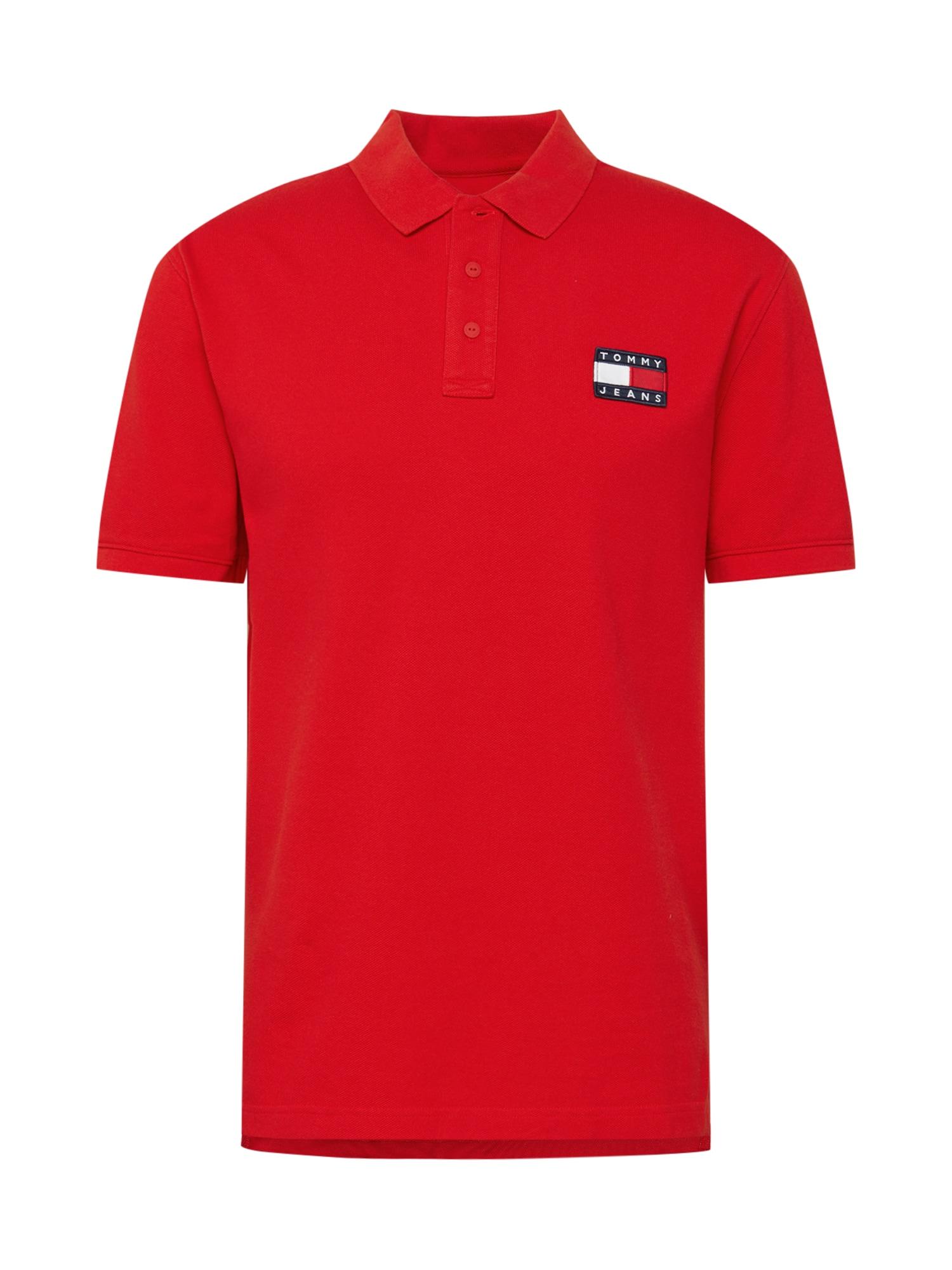 Tommy Jeans Tričko 'Badge Polo'  červená