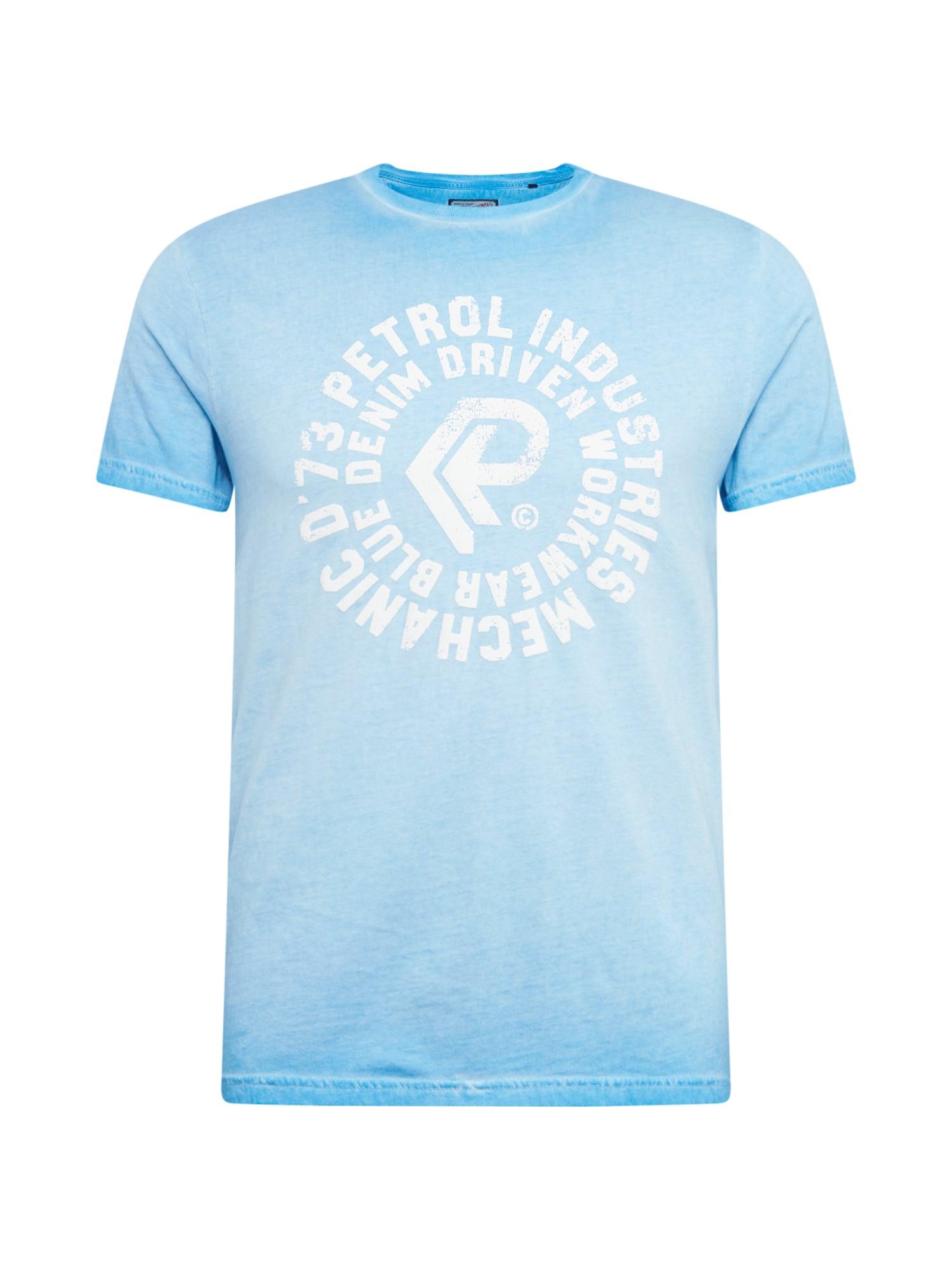 Tričko modrá bílá Petrol Industries