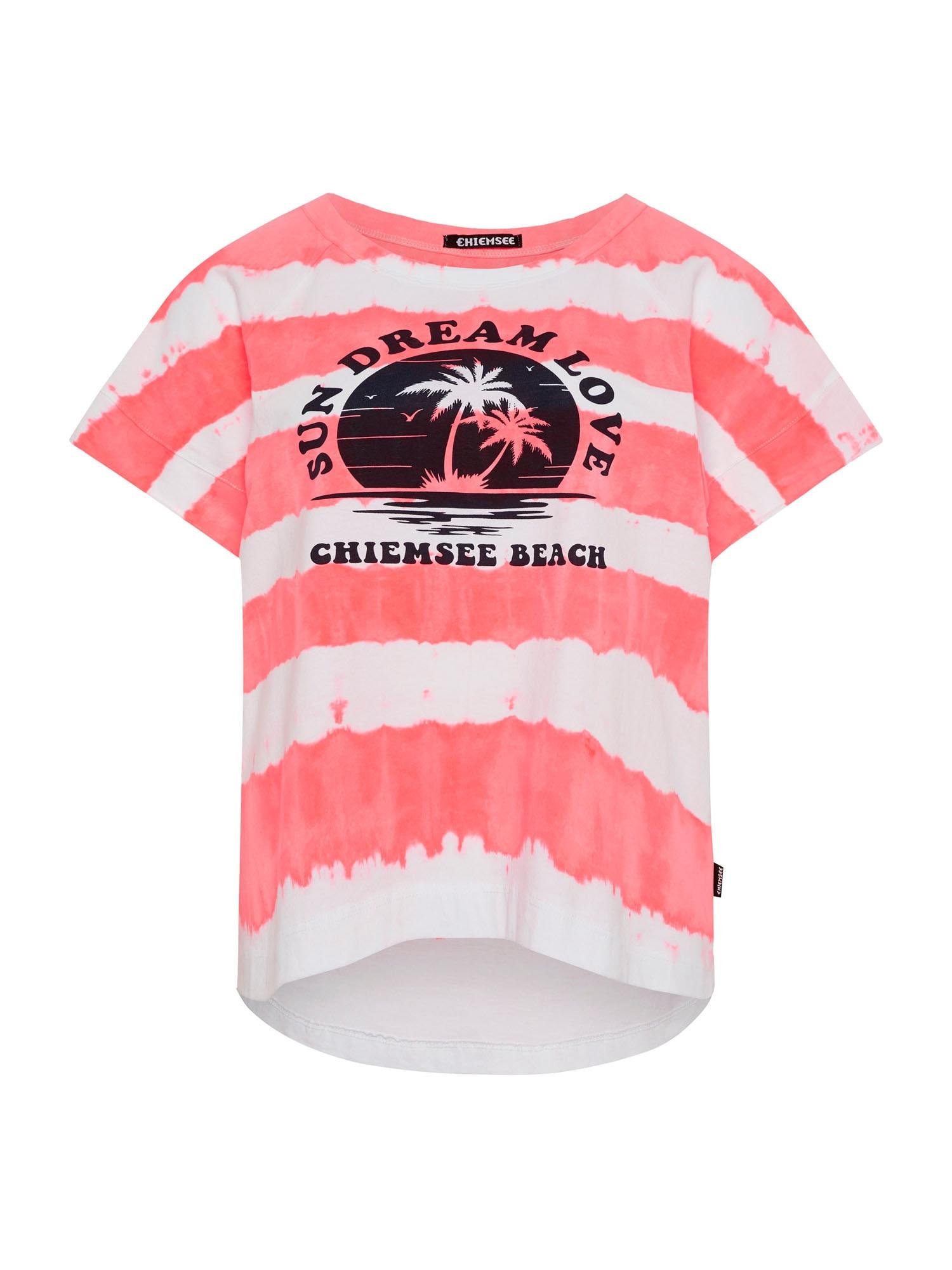 CHIEMSEE Marškinėliai rožinė / balta