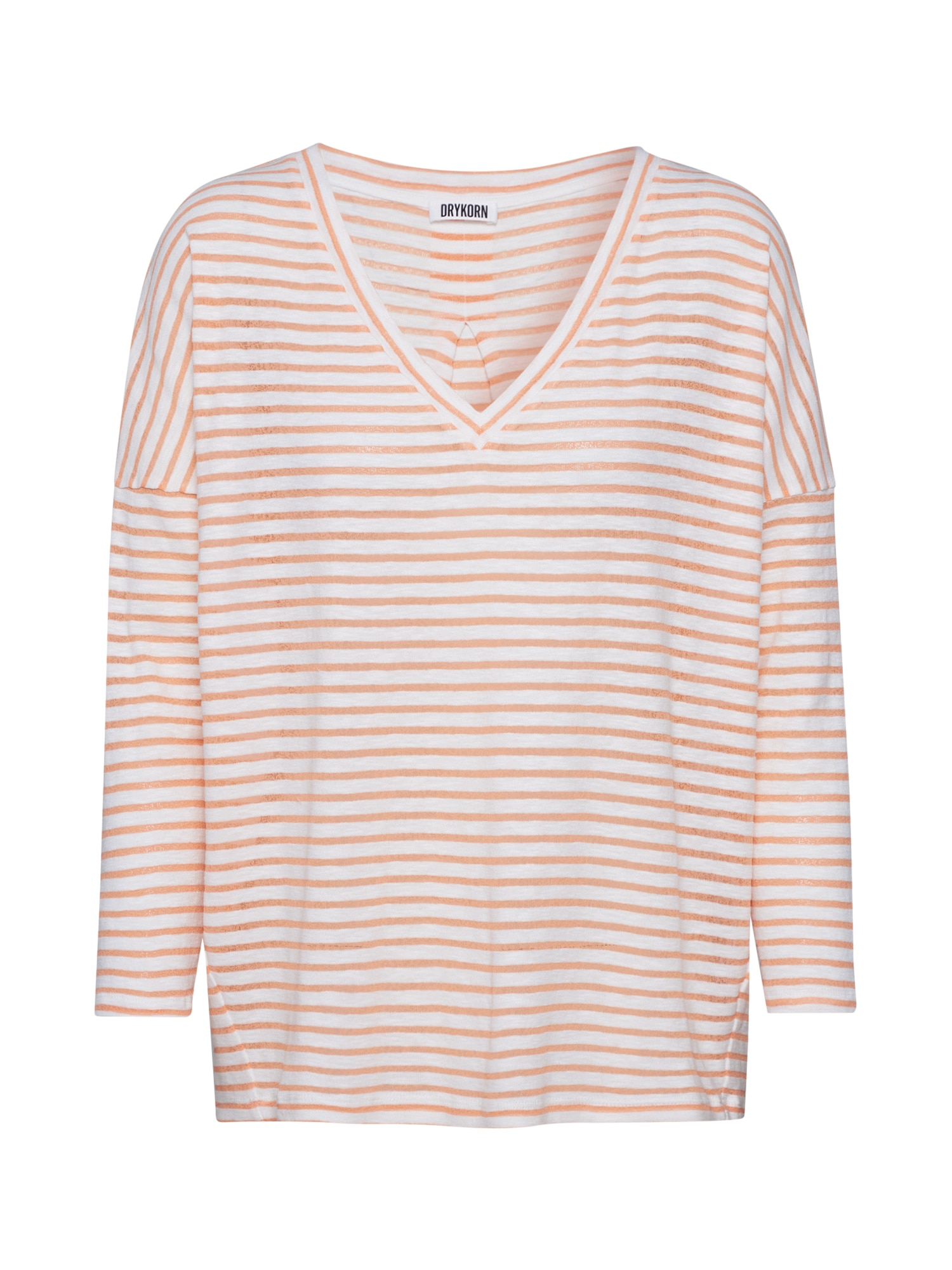 DRYKORN Marškinėliai 'VENJA' oranžinė / balta
