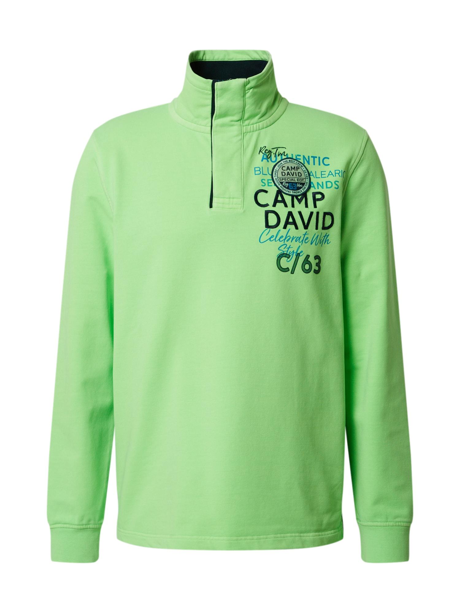 CAMP DAVID Megztinis be užsegimo neoninė žalia