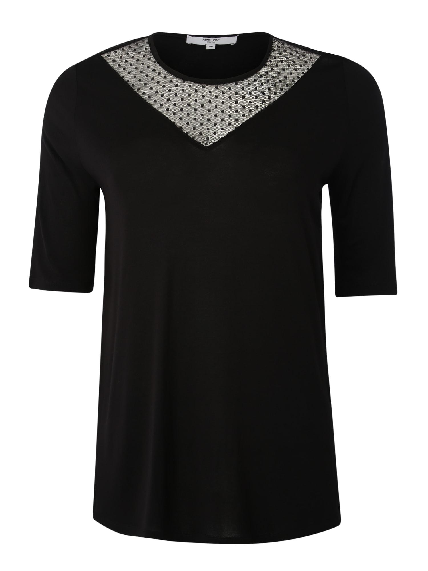 ABOUT YOU Curvy Marškinėliai 'Fatma' juoda