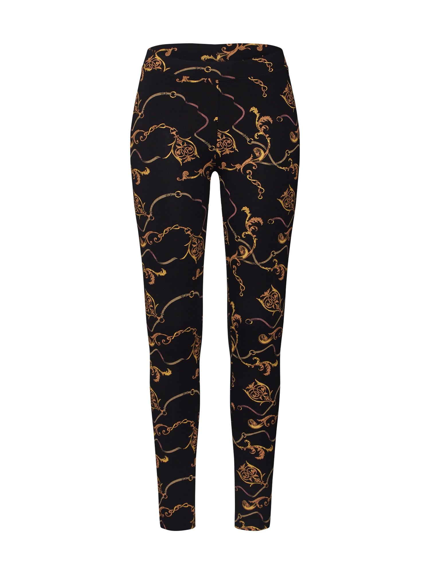 Urban Classics Chino nohavice 'Luxury'  zlatá žltá / čierna