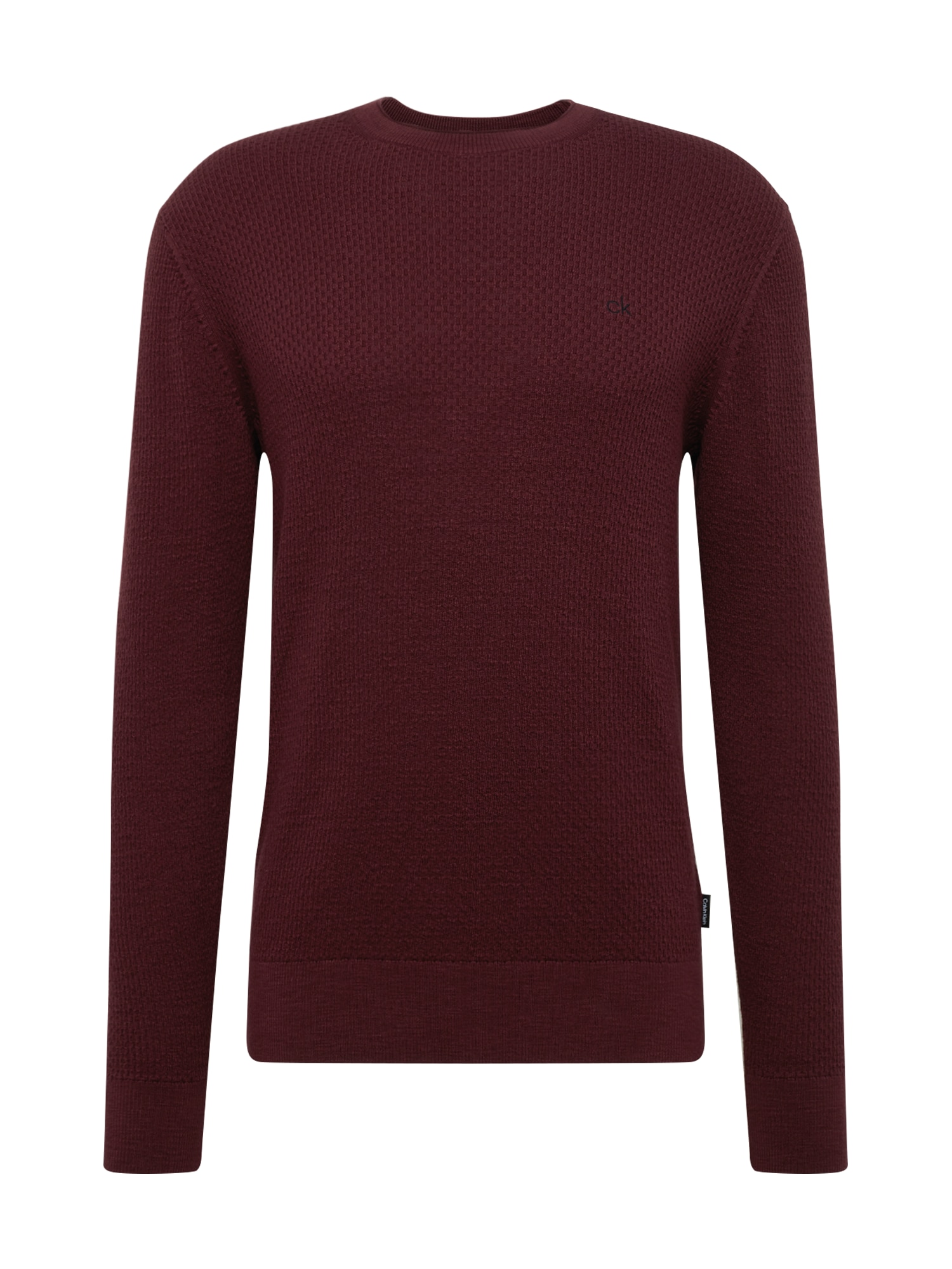 Calvin Klein Megztinis vyno raudona spalva