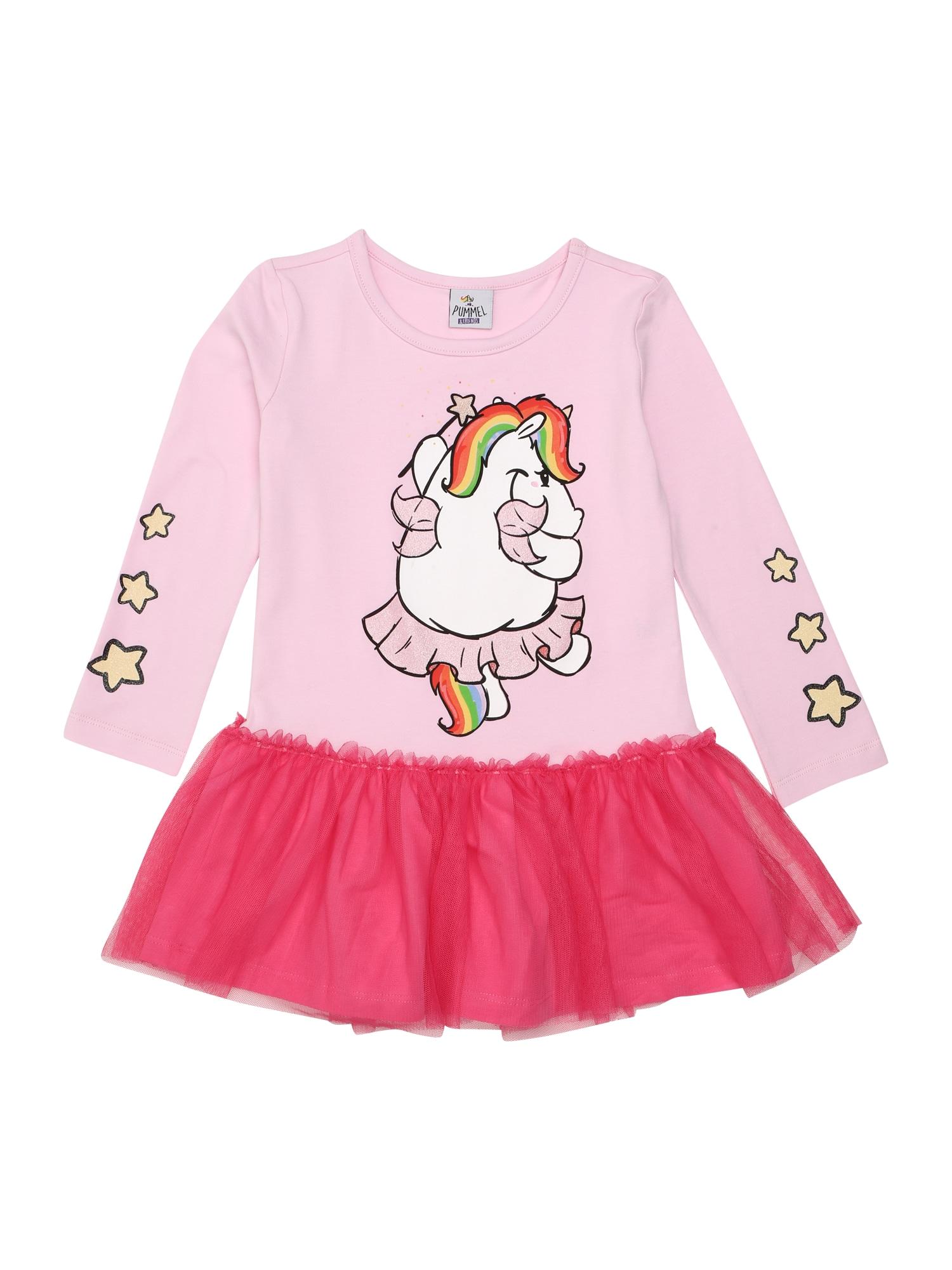 Šaty pink Pummeleinhorn