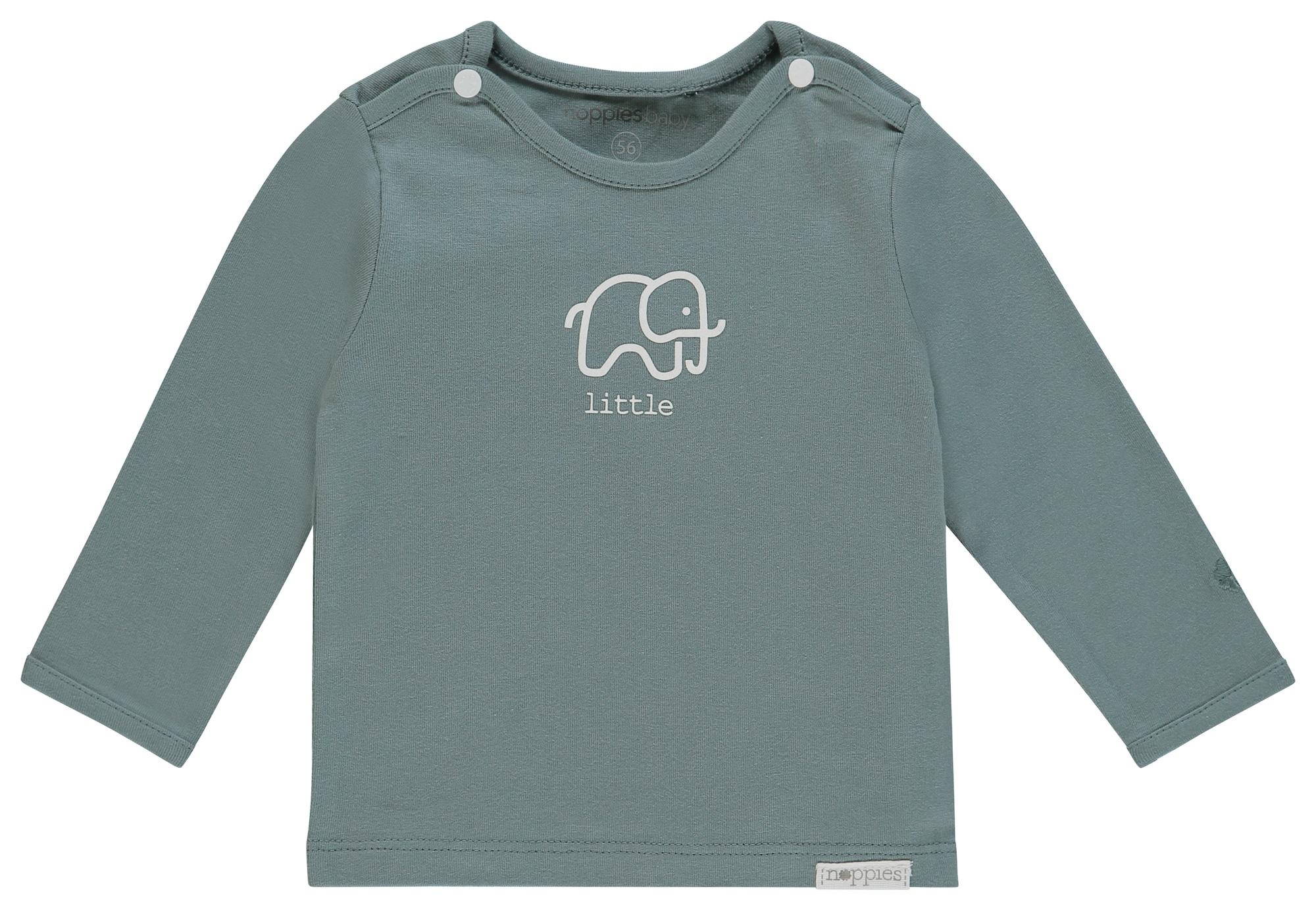 Noppies Marškinėliai 'Amanda' balta / smaragdinė spalva