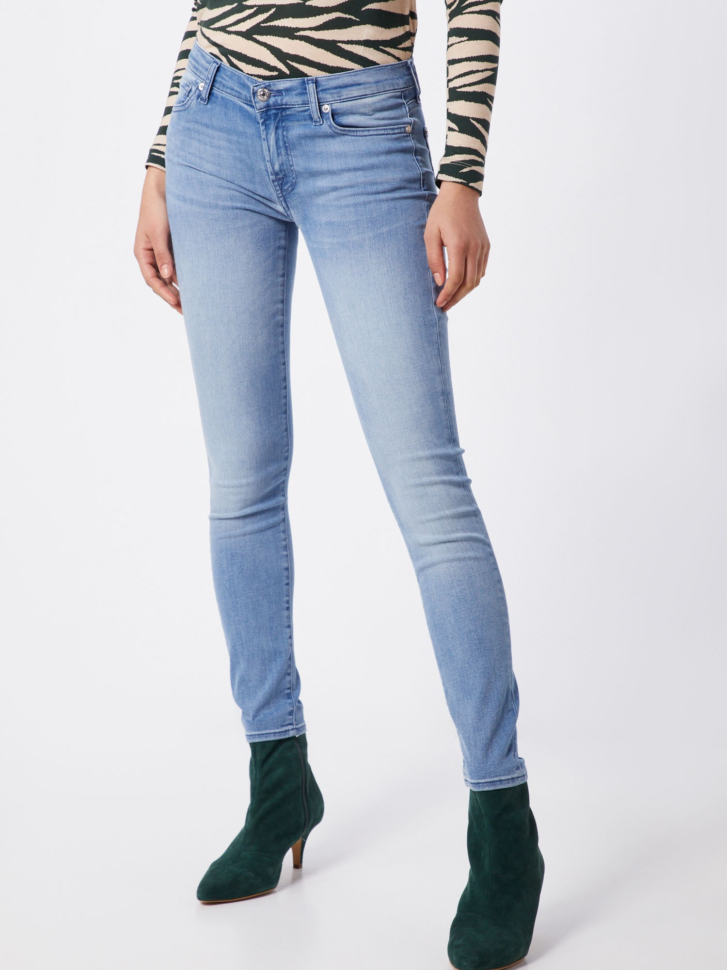 7 for all mankind Jeans 'THE SKINNY CROP BAIR MIRAGE'  ljusblå