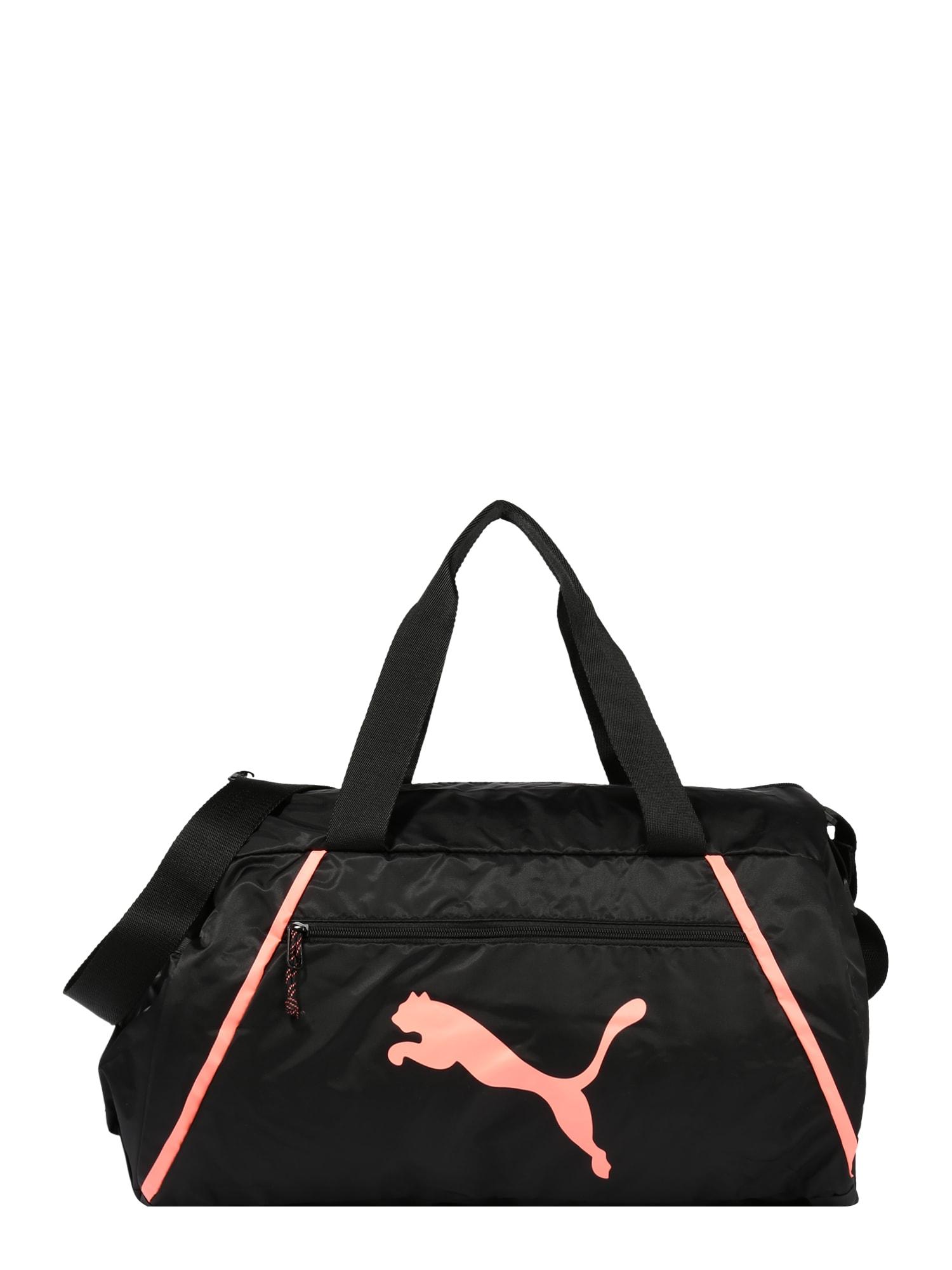 PUMA Sportinis krepšys 'Pearl' koralų splava / juoda