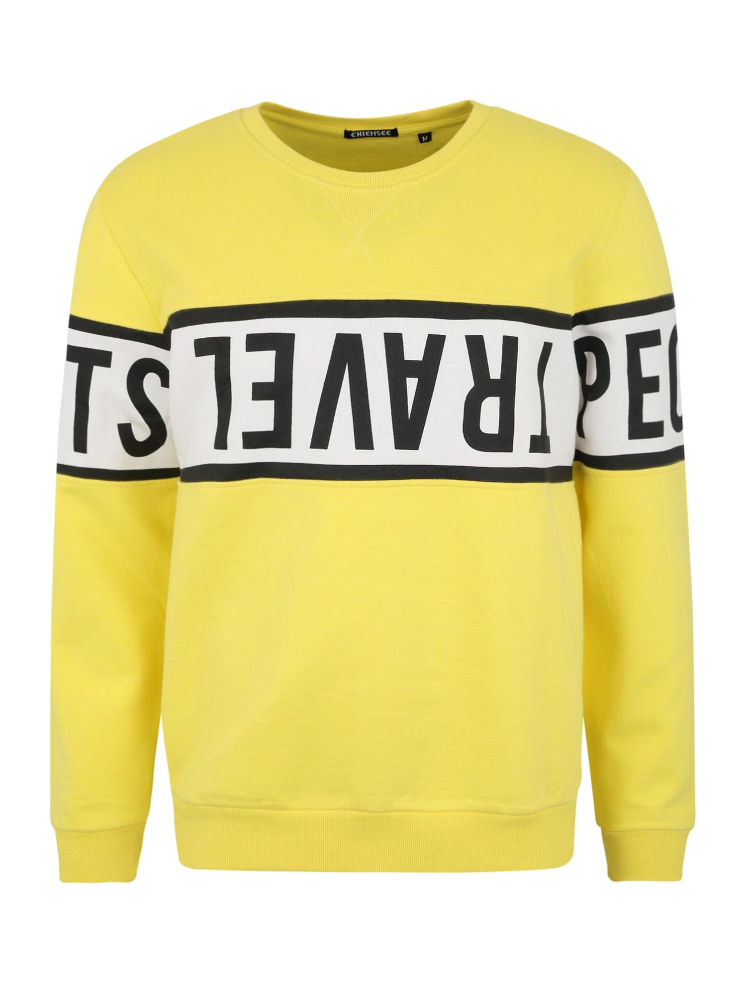 CHIEMSEE Sportinio tipo megztinis geltona / juoda