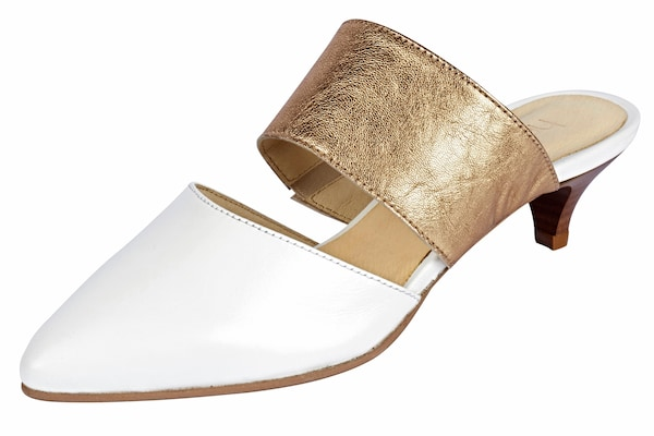 Clogs für Frauen - Heine Sabot gold weiß  - Onlineshop ABOUT YOU