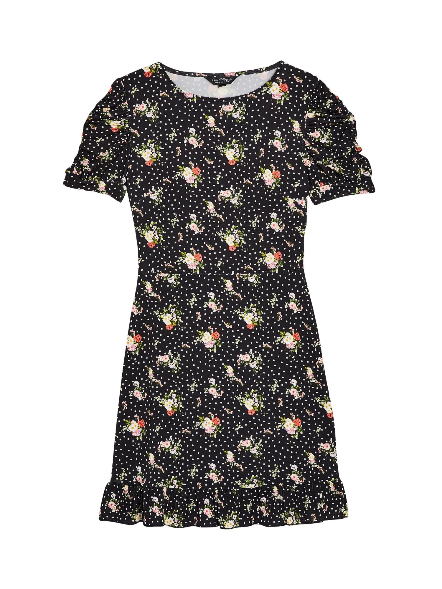 Miss Selfridge Rochie 'PUFF SLEEVE DRESS'  culori mixte / negru