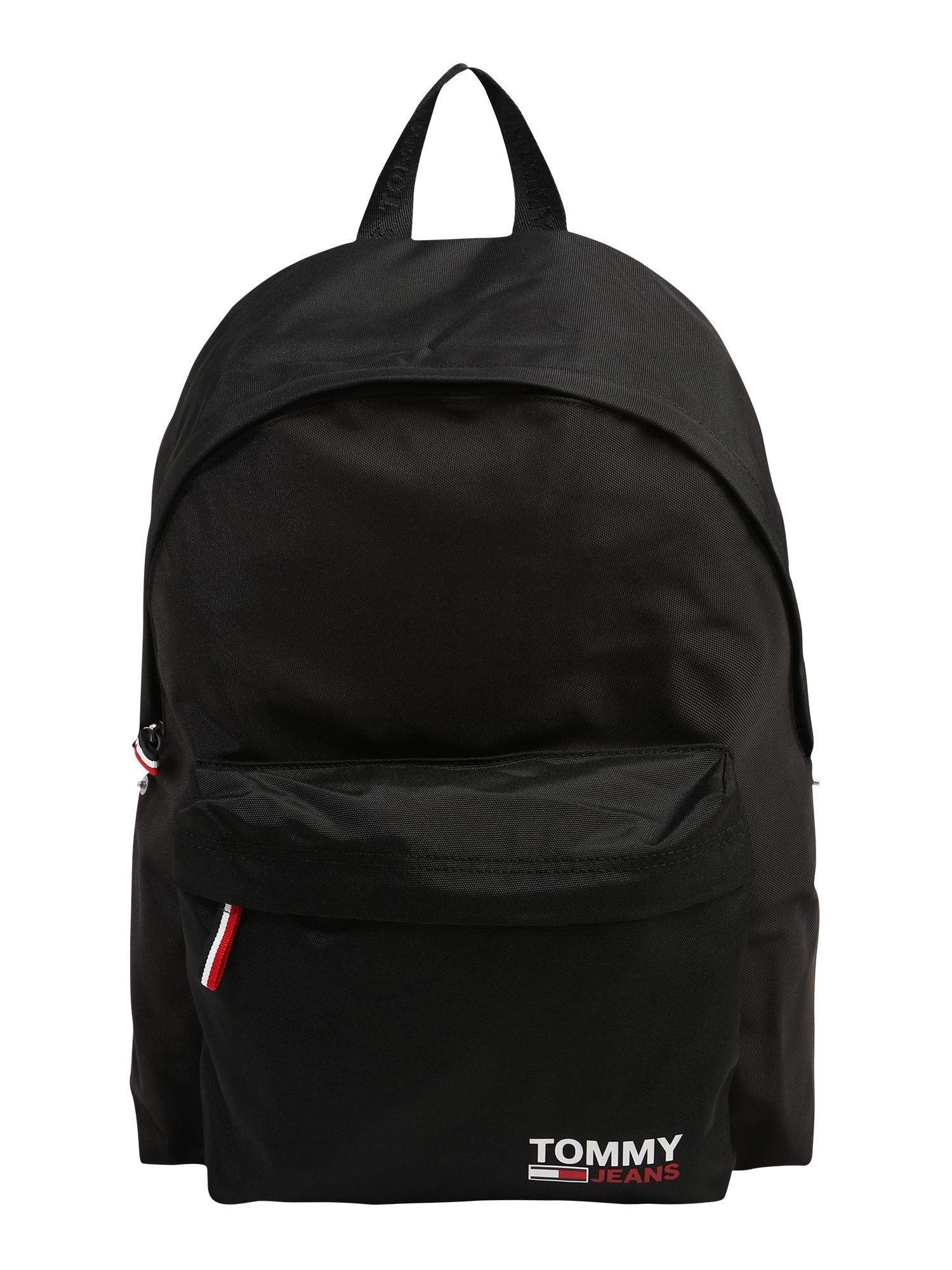 Tommy Jeans Batoh 'Campus'  černá / bílá / červená