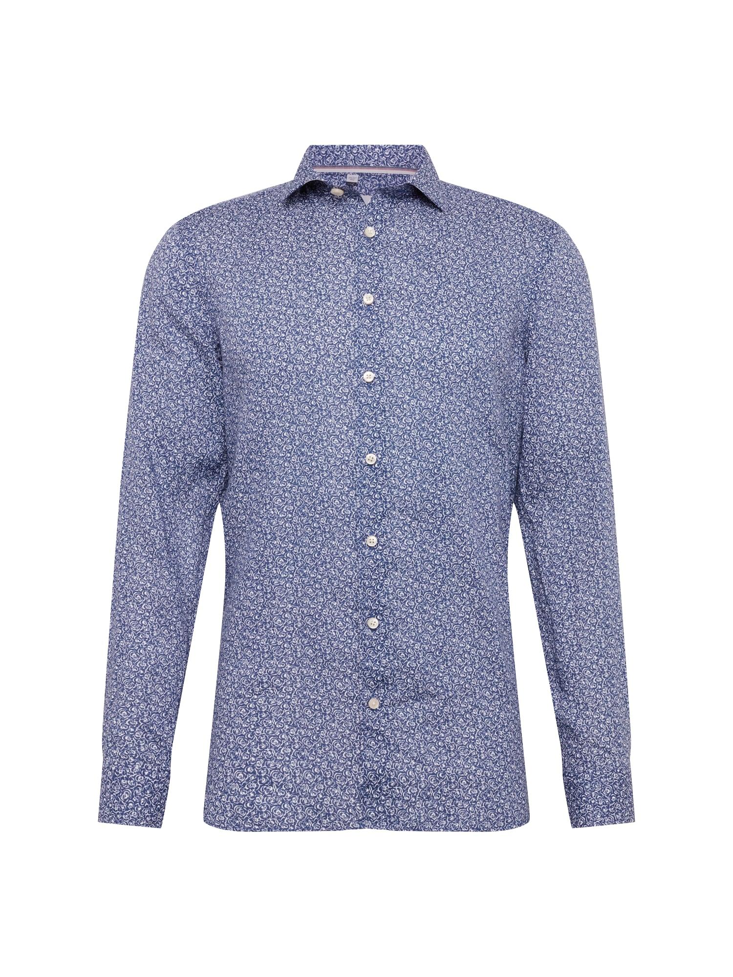 Košile Level 5 námořnická modř bílá OLYMP