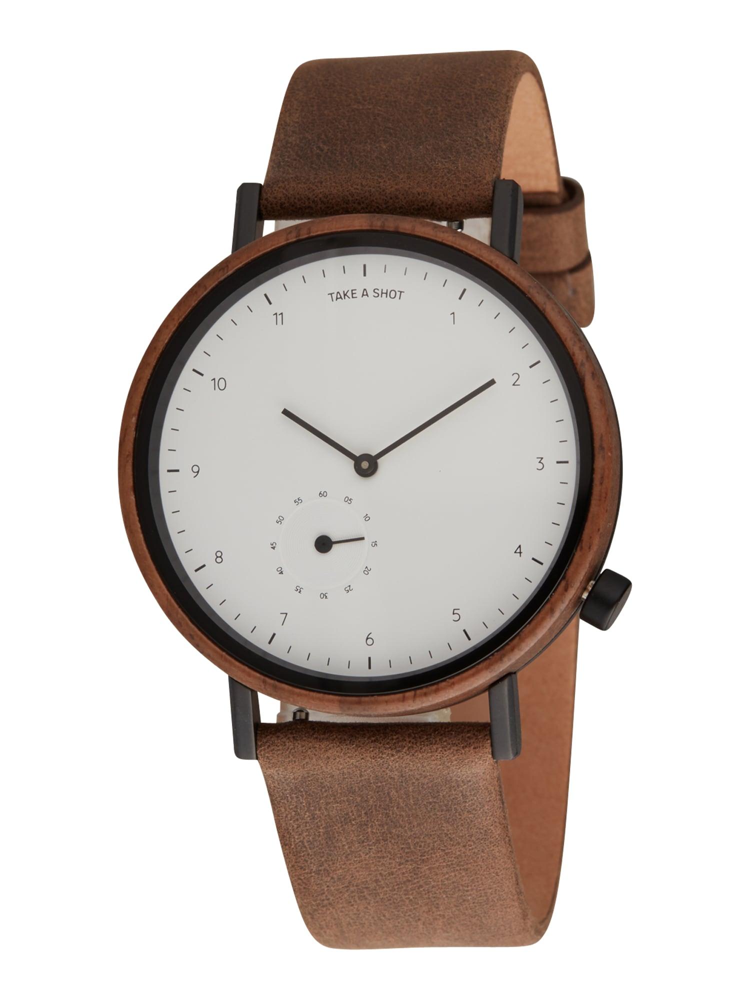 TAKE A SHOT Analoginis (įprasto dizaino) laikrodis ruda
