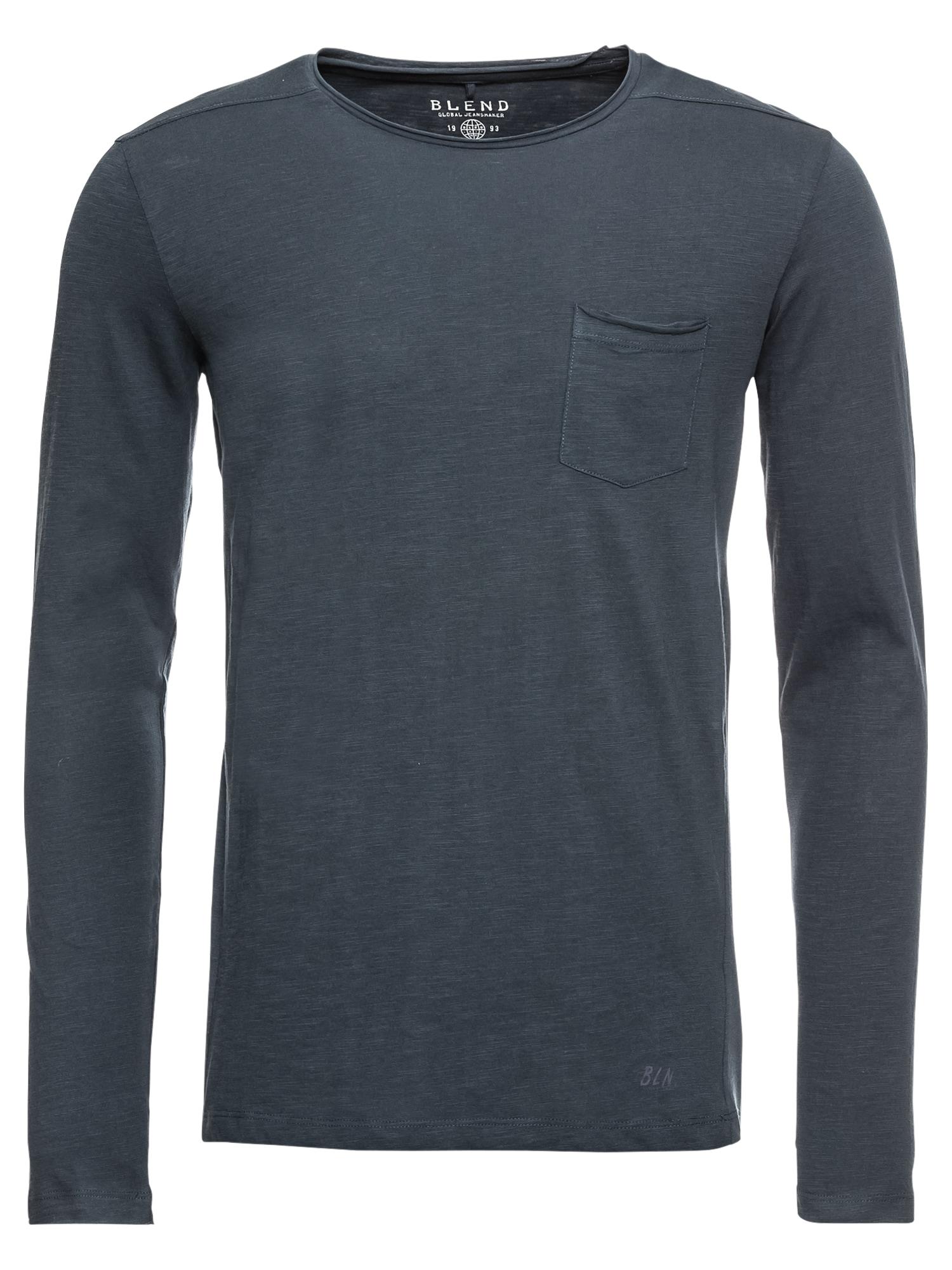 BLEND Marškinėliai tamsiai mėlyna