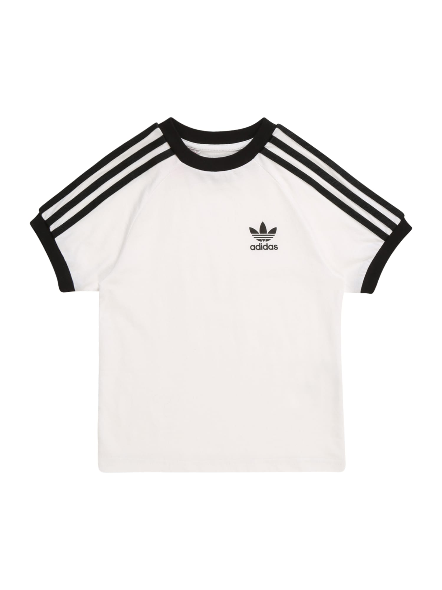 ADIDAS ORIGINALS Tričko '3STRIPES'  biela / čierna