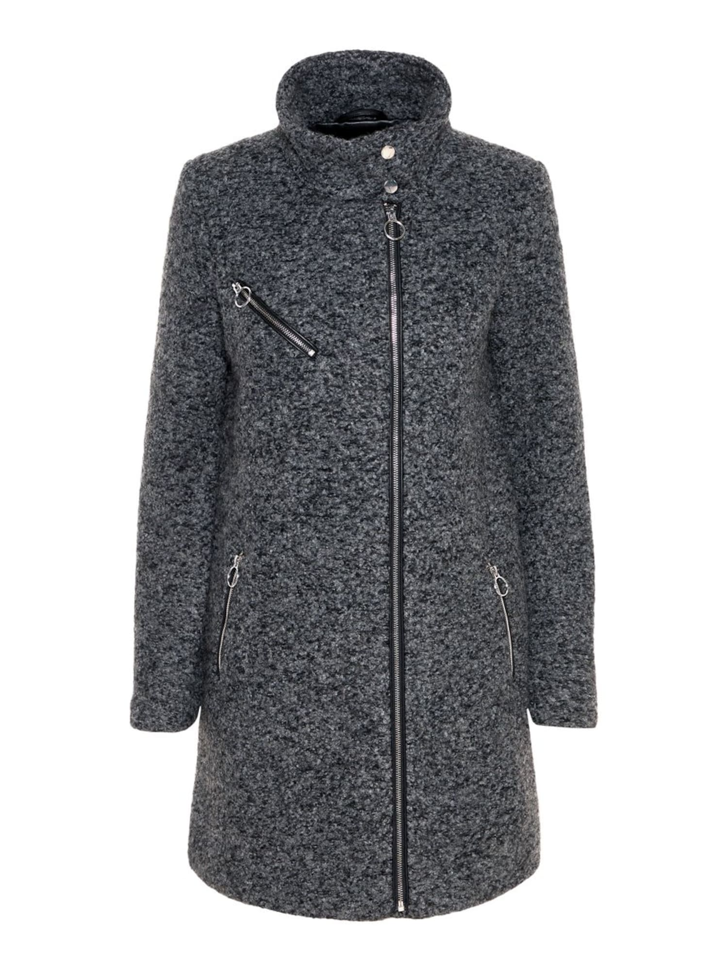 Zimní kabát šedý melír VERO MODA