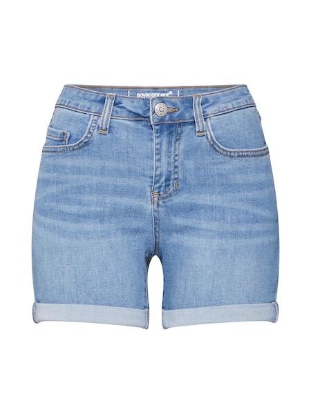 Hosen für Frauen - Shorts 'VICKY' › Soyaconcept › blue denim  - Onlineshop ABOUT YOU