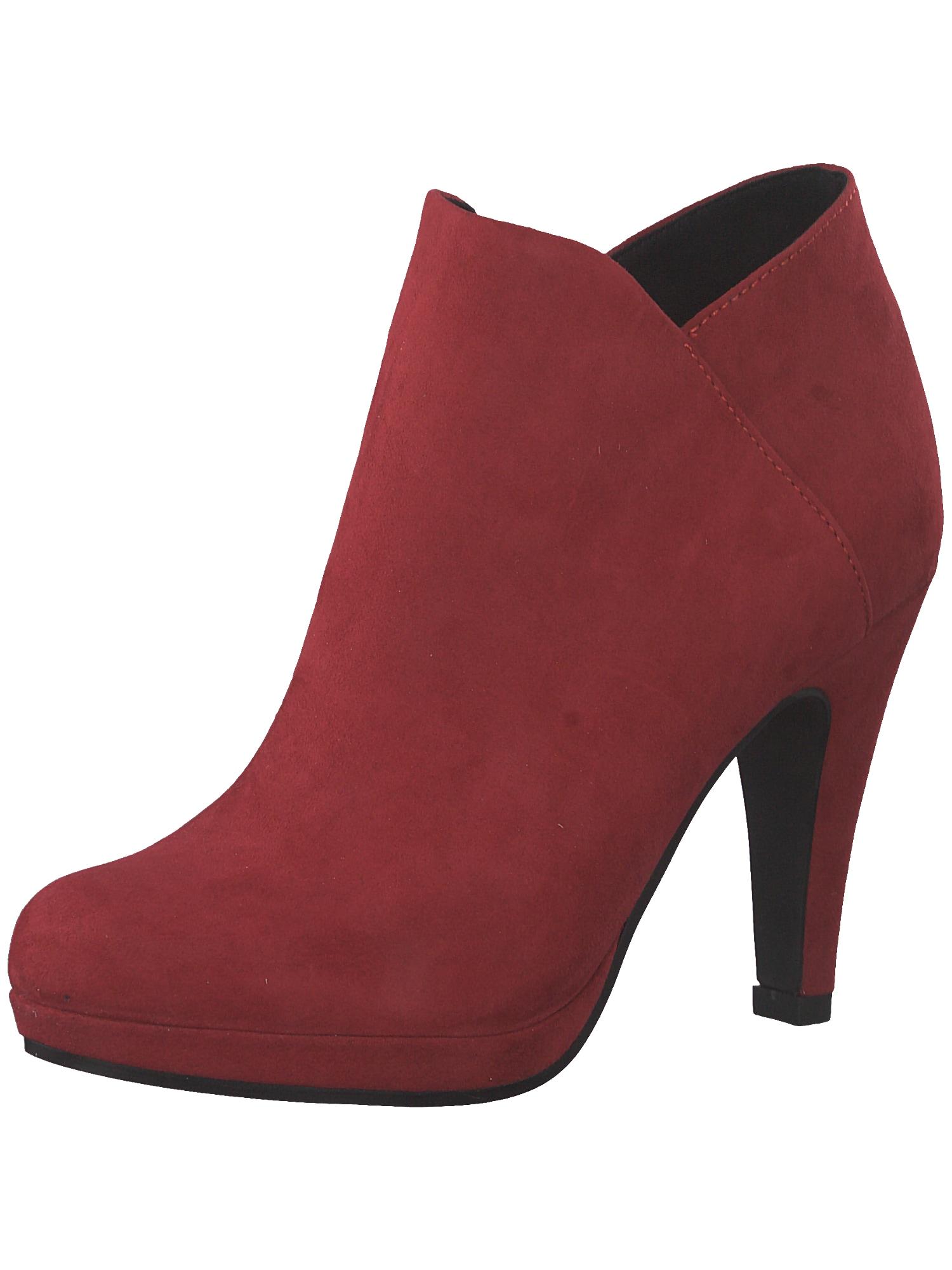 Kotníkové boty tmavě červená MARCO TOZZI