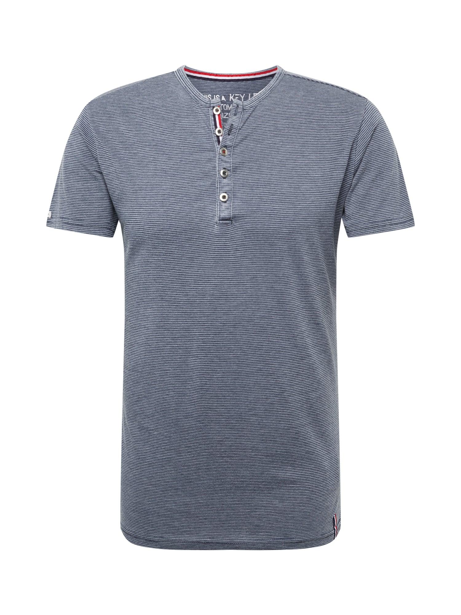 Key Largo Marškinėliai 'MT DIETER' tamsiai mėlyna / balta