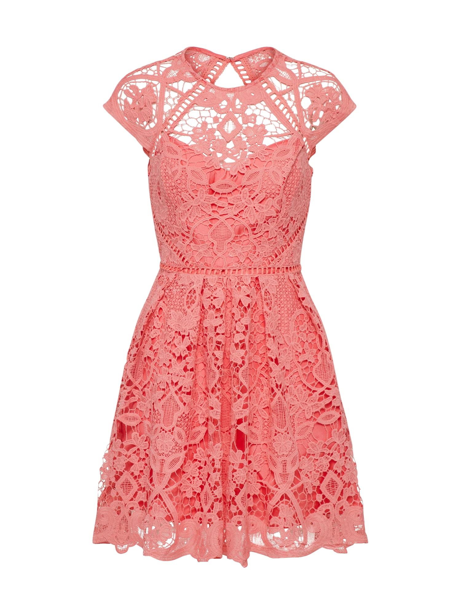 Koktejlové šaty korálová Laona