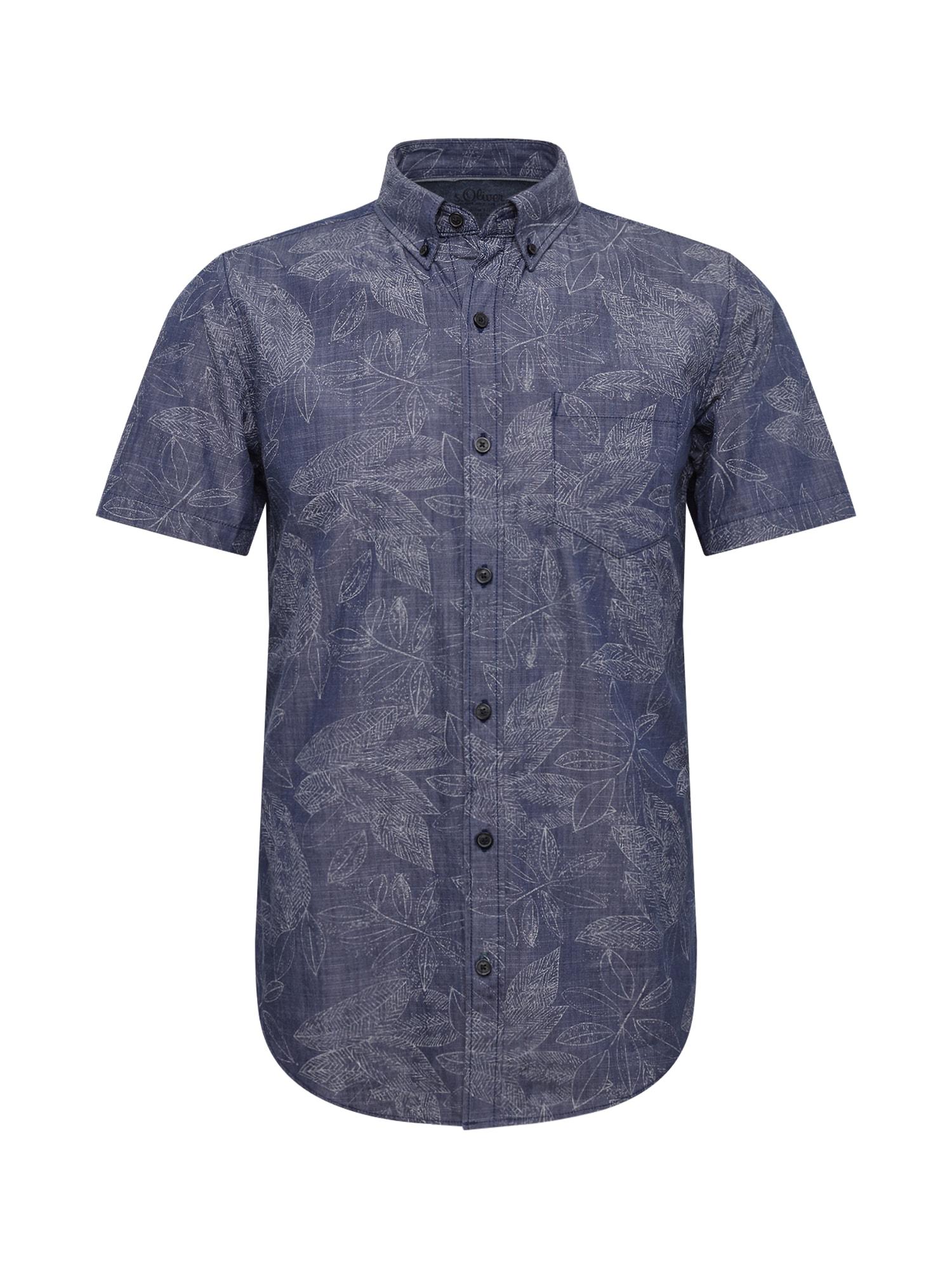 Košile dunkelblau offwhite S.Oliver RED LABEL