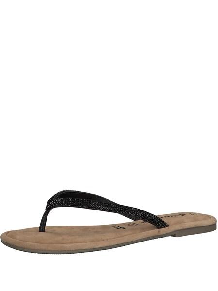 Sandalen für Frauen - Zehentrenner › tamaris › schwarz  - Onlineshop ABOUT YOU