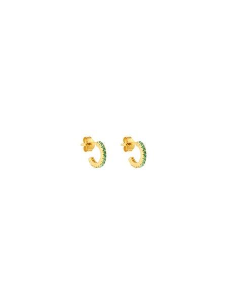 Ohrringe für Frauen - ID Fine Creolen 'Simplicity' gold hellgrün  - Onlineshop ABOUT YOU