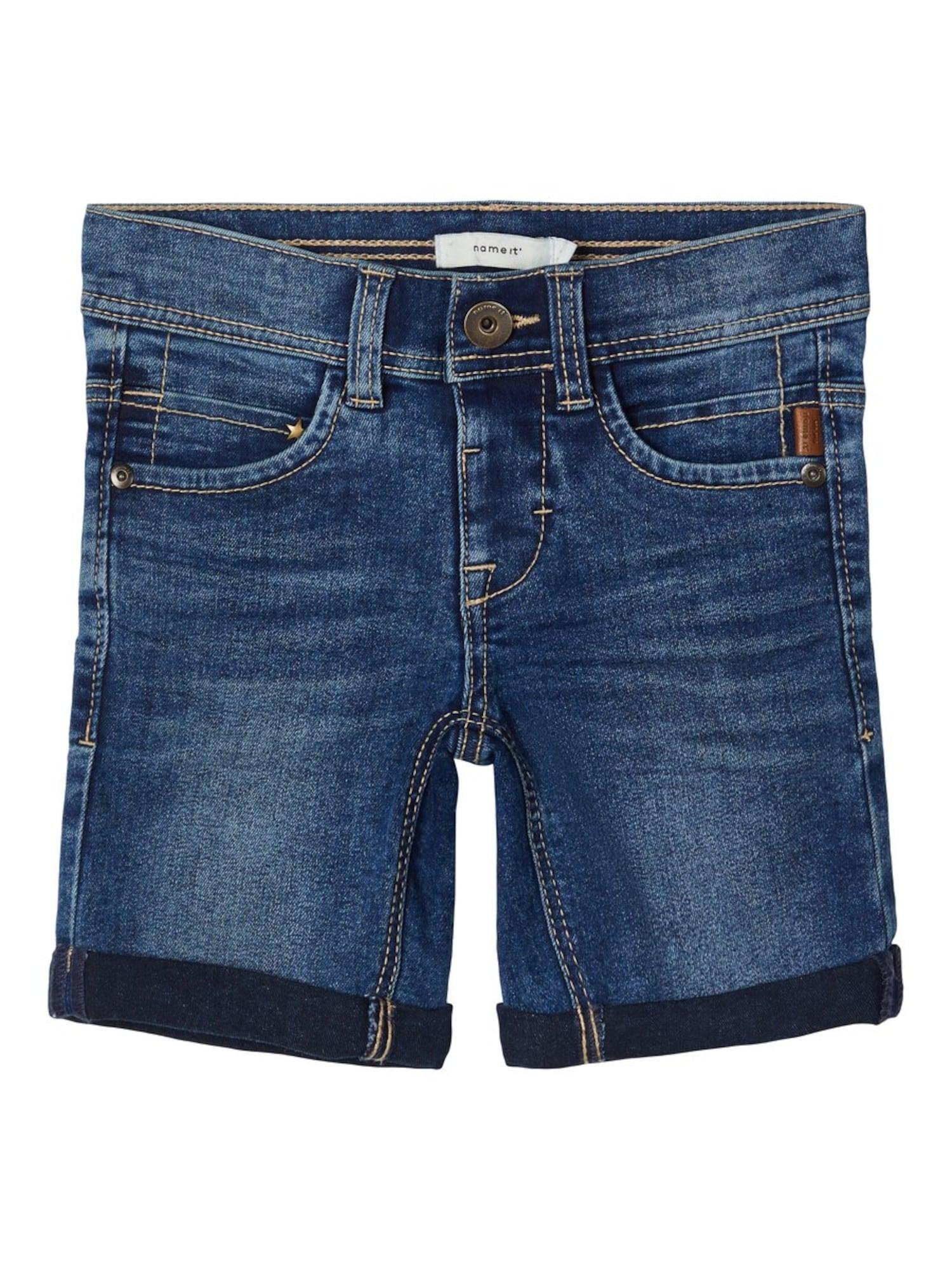 NAME IT Džinsai tamsiai (džinso) mėlyna / gelsvai pilka spalva
