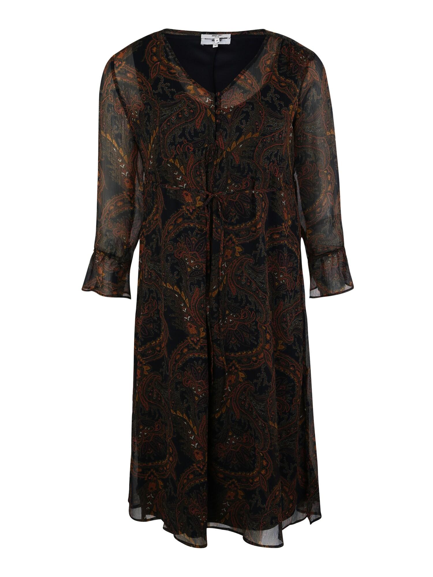 Šaty Agathe mix barev černá ABOUT YOU Curvy