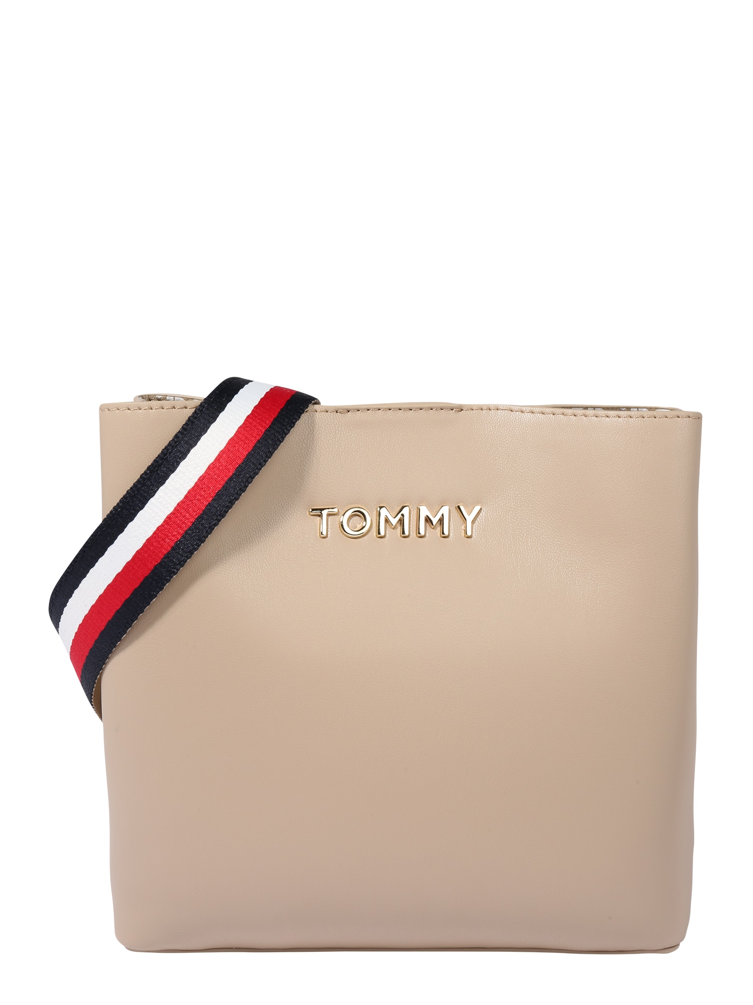TOMMY HILFIGER Taška cez rameno  biela / béžová / zlatá / námornícka modrá / červené