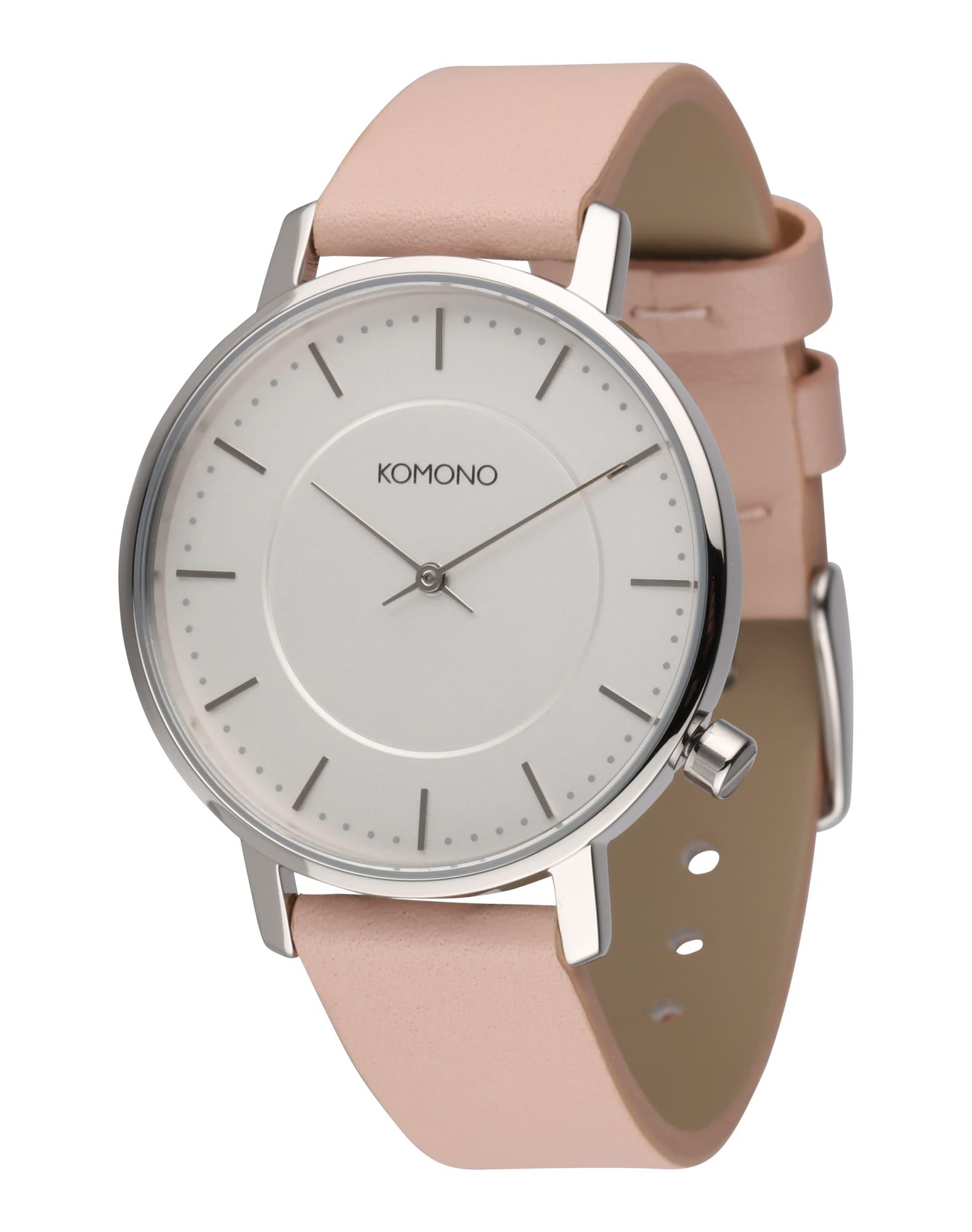 Analogové hodinky Harlow růžová stříbrná Komono