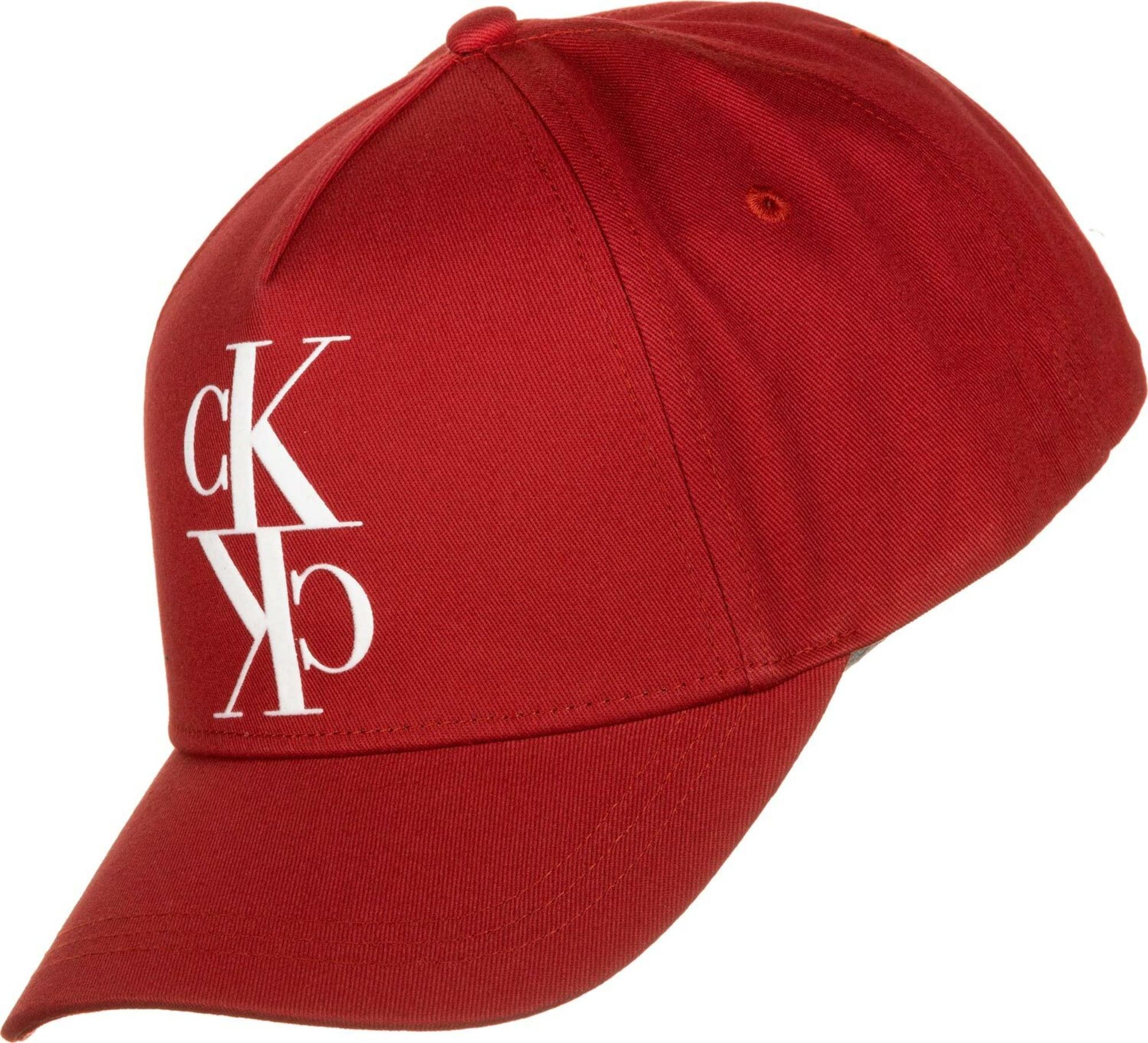 Calvin Klein Jeans Kšiltovka ' J Monogram '  červená / bílá